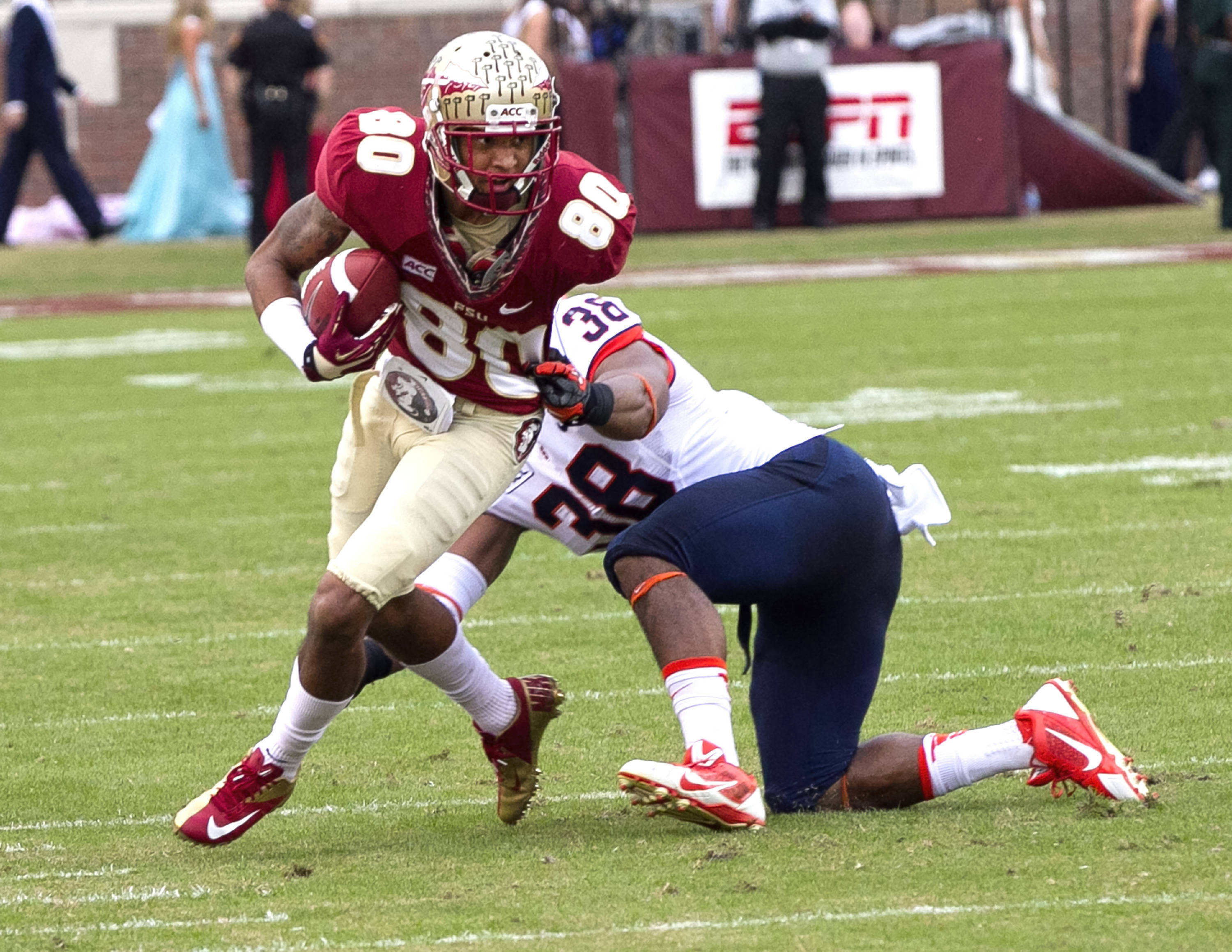 Rashad Greene (80), FSU vs Syracuse, 11-16-13, (Photo by Steve Musco)