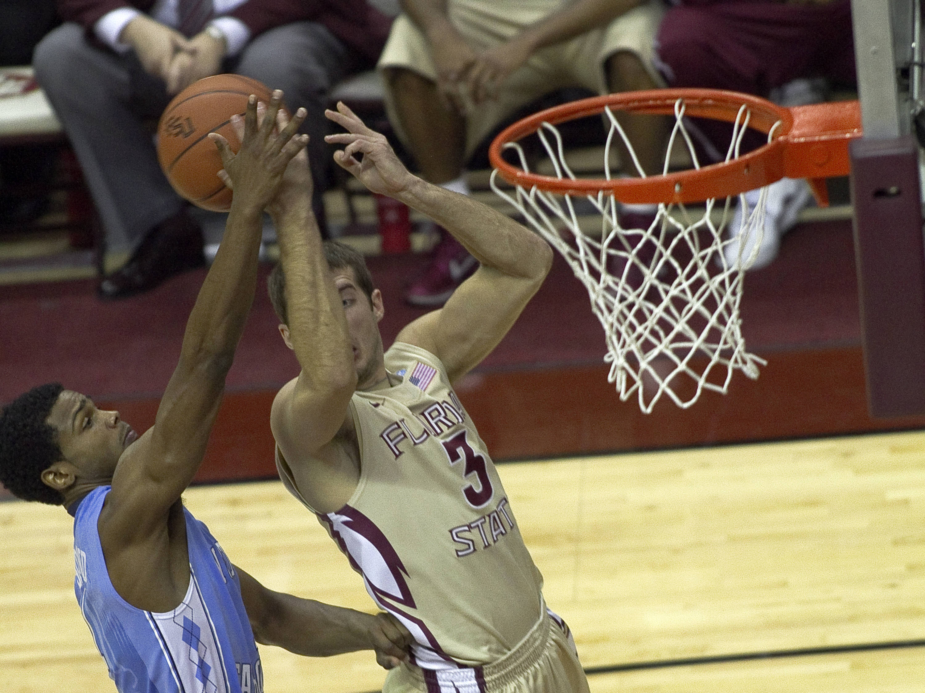 Luke Loucks (3), FSU vs NC,  01/14/2012