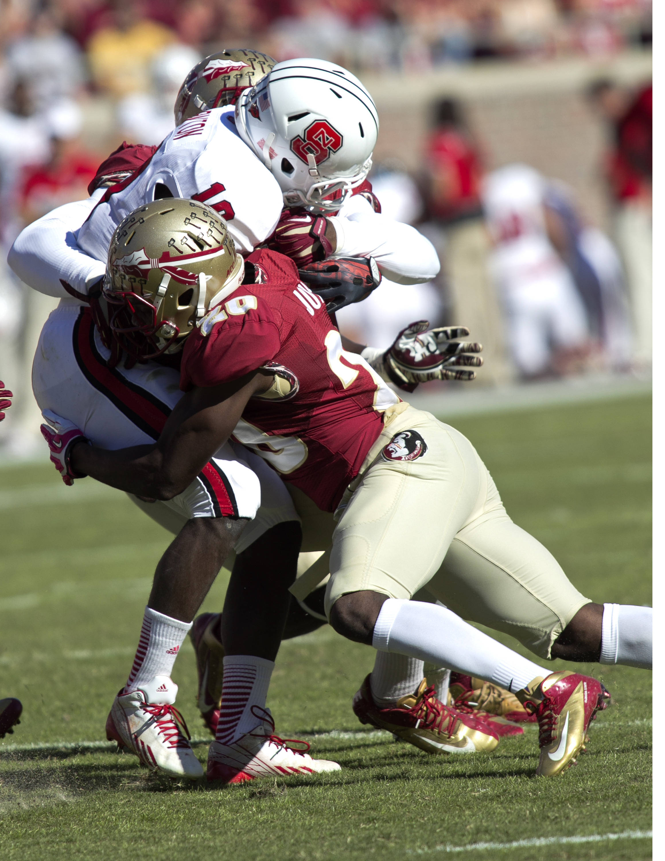 Lamarcus Joyner (20), FSU vs NC State,  10-26-13, (Photo by Steve Musco)