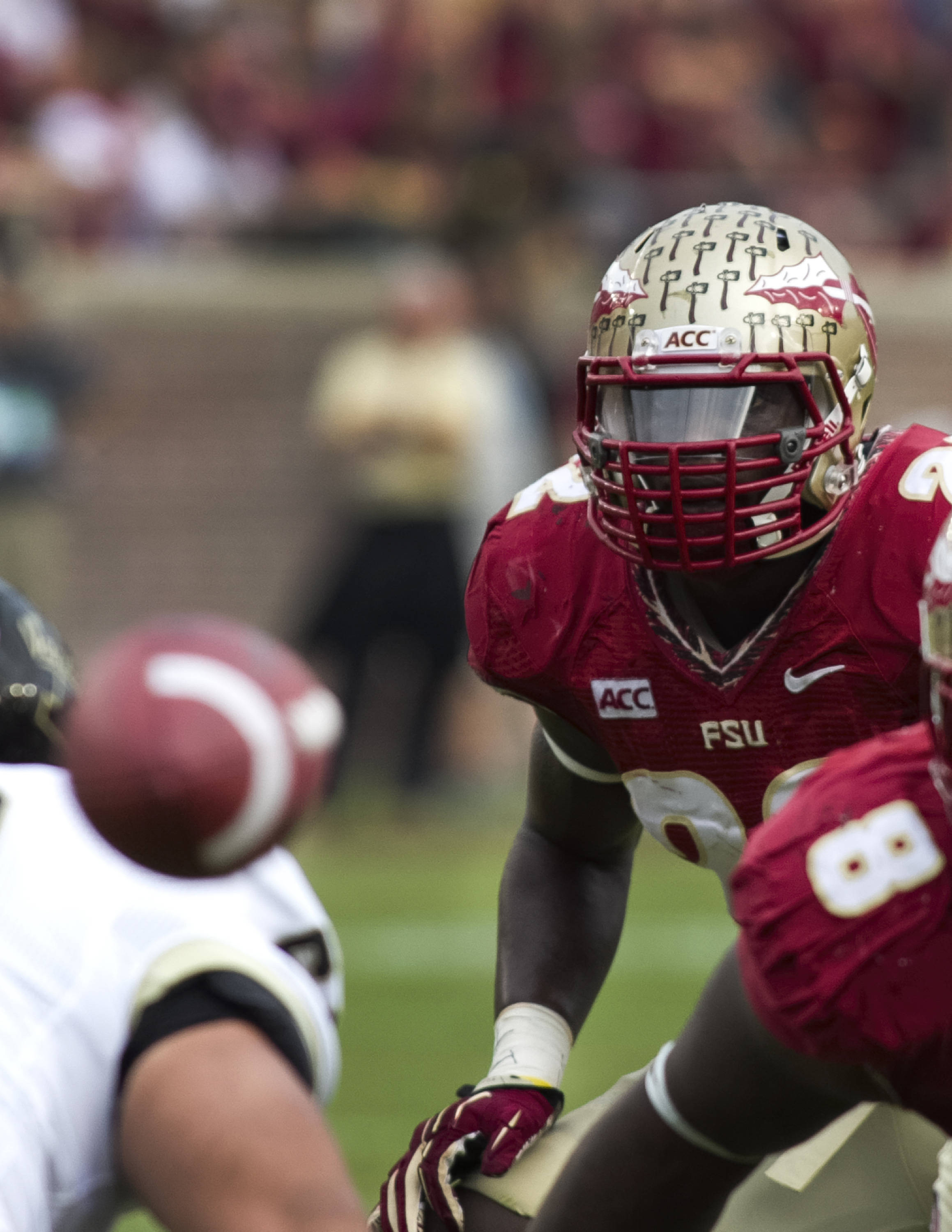Telvin Smith (22), FSU vs Idaho, 11-23-13,  (Photo by Steve Musco)