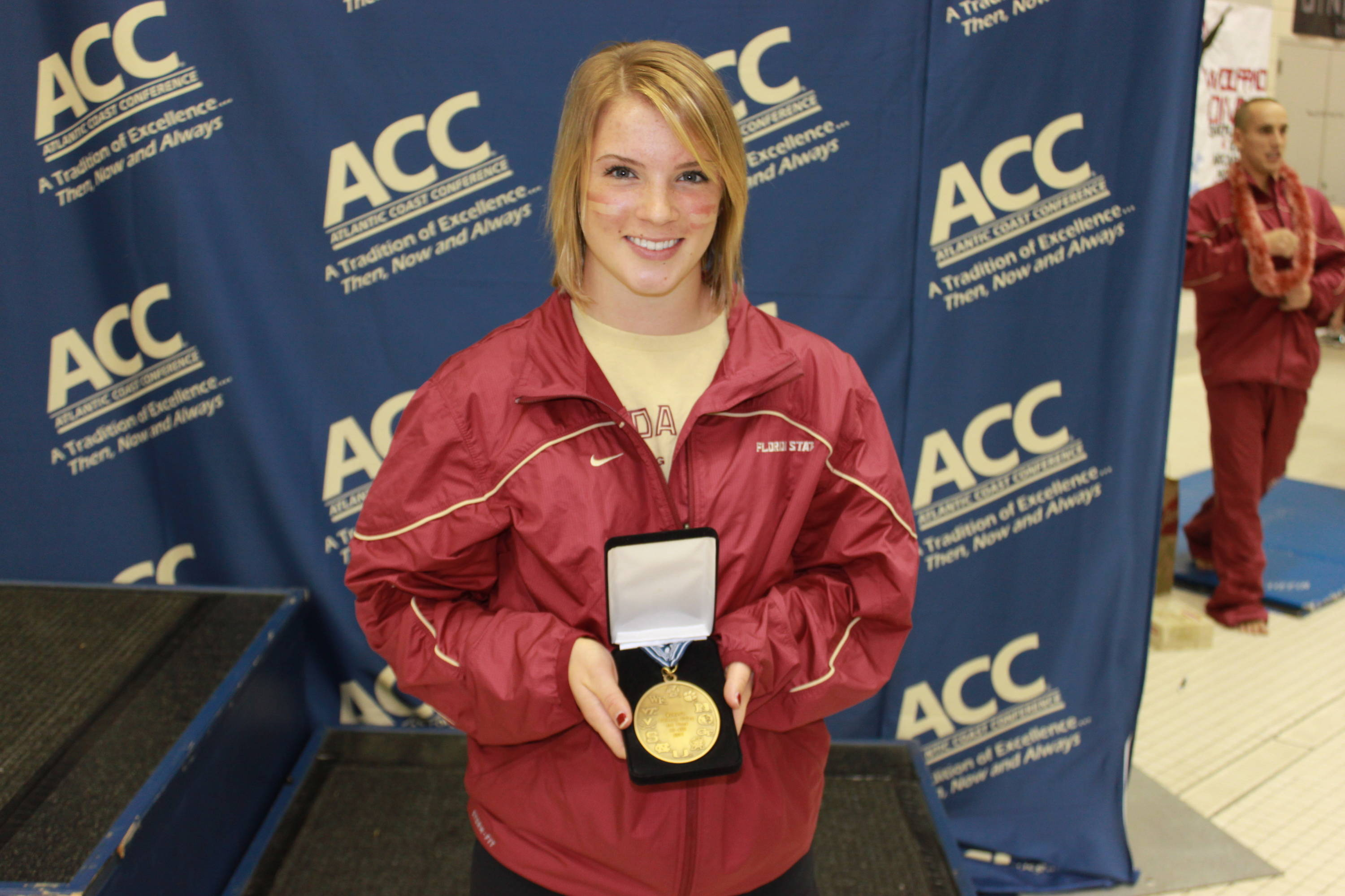 Katrina Young with her third-place medal