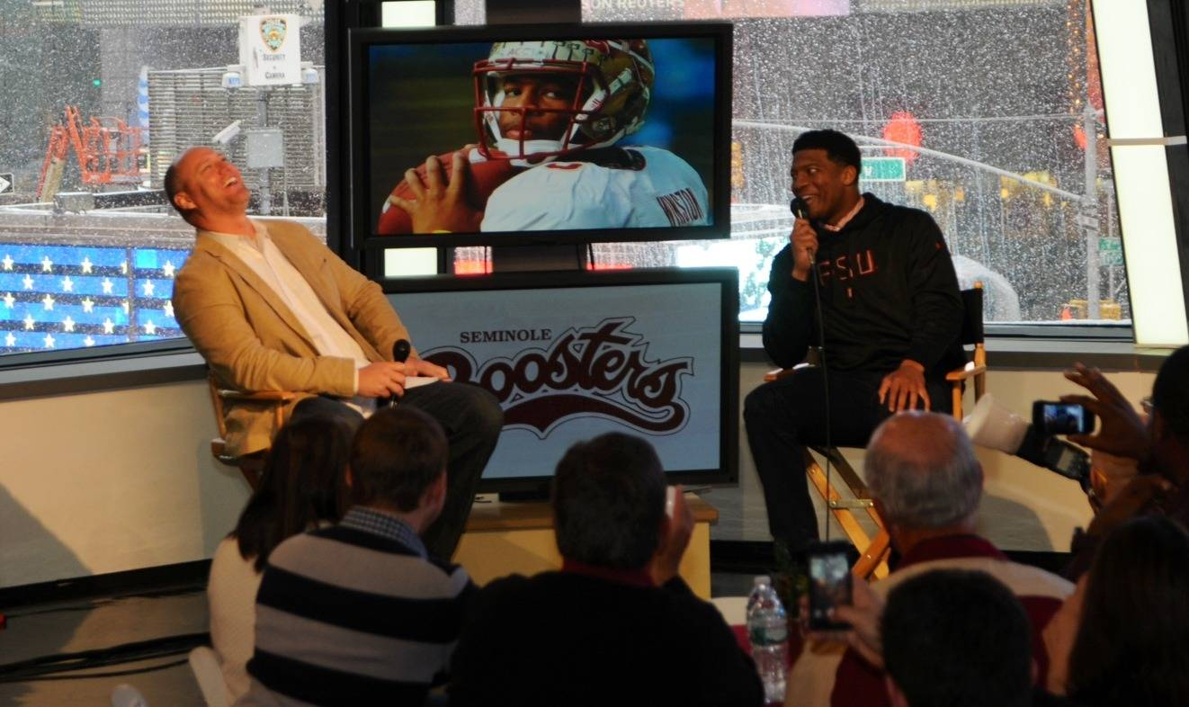 Chris Weinke and Jameis Winston (Photo by Jeff Romance)