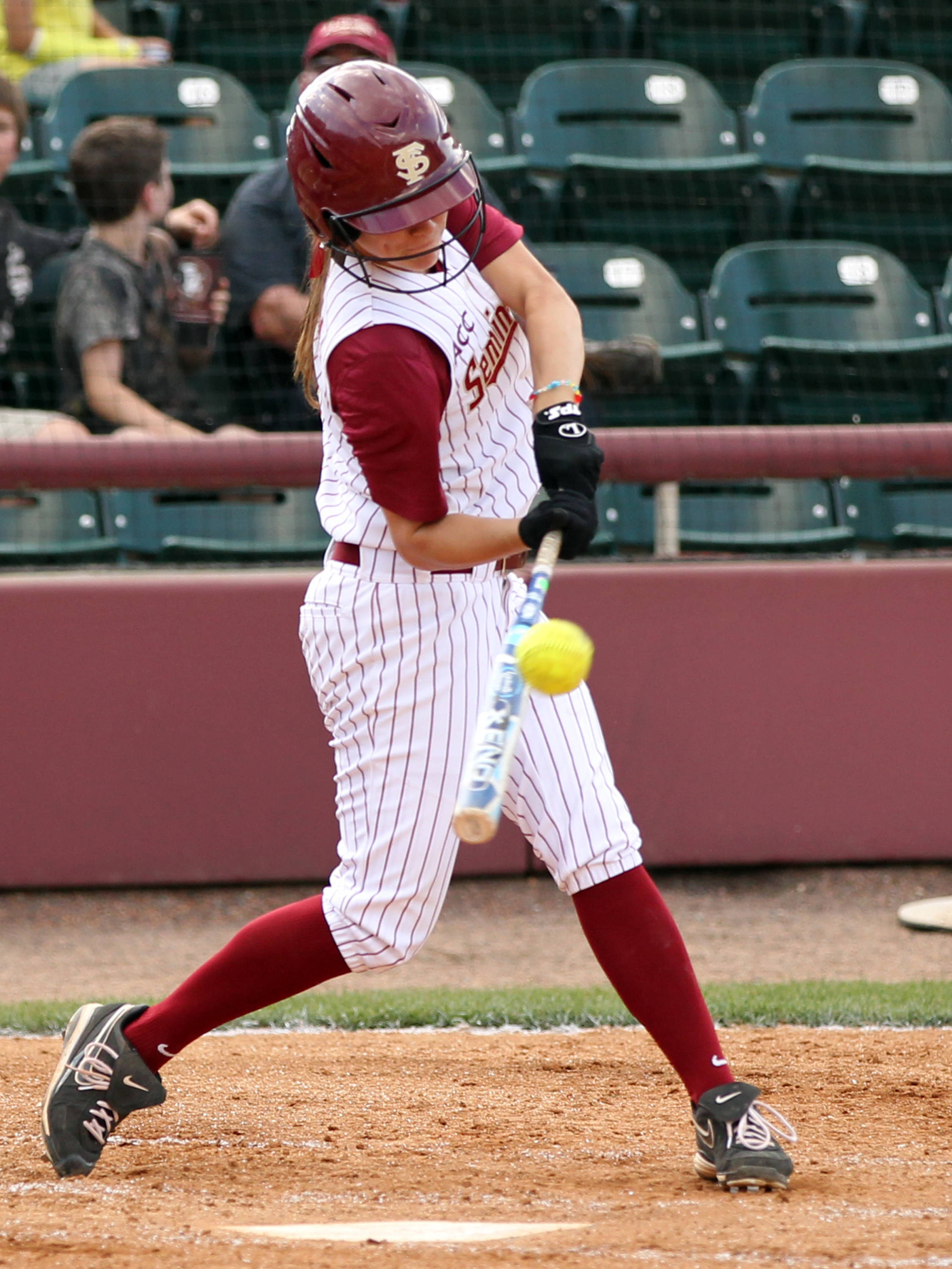 Bailey Schinella, FSU VS BC, ACC Championship Quarterfinals, Tallahassee, FL,  05/09/13 . (Photo by Steve Musco)
