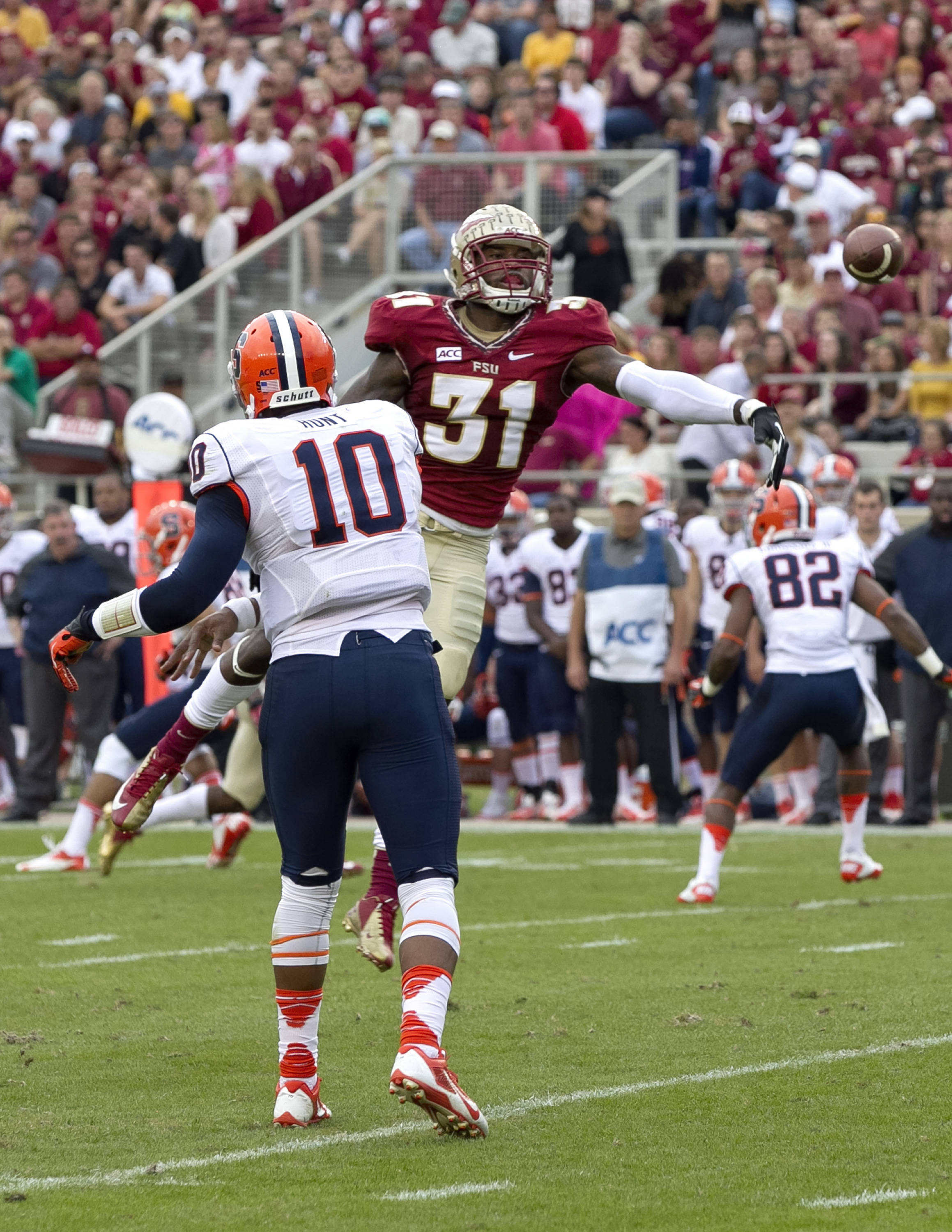 Terrence Brooks (31), FSU vs Syracuse, 11-16-13, (Photo by Steve Musco)