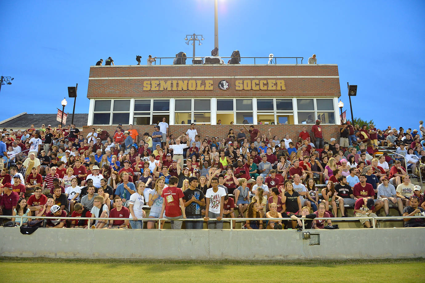 The home crowd at the Seminole Soccer Complex