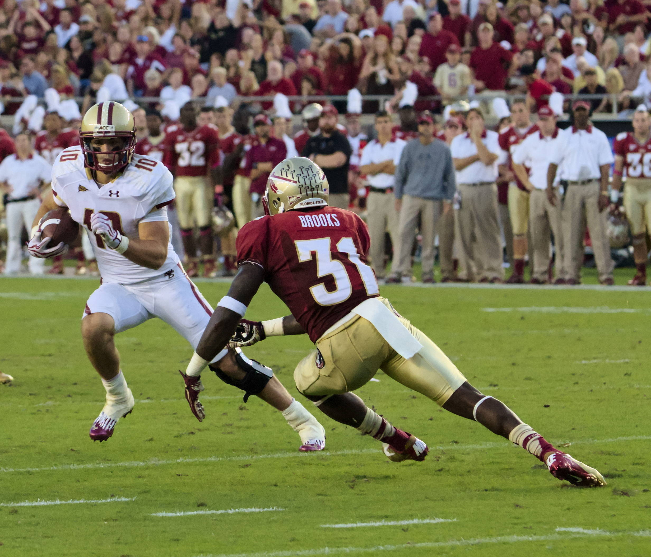 Terrance Brooks (31), FSU vs BC, 10/13/12 (Photo by Steve Musco)