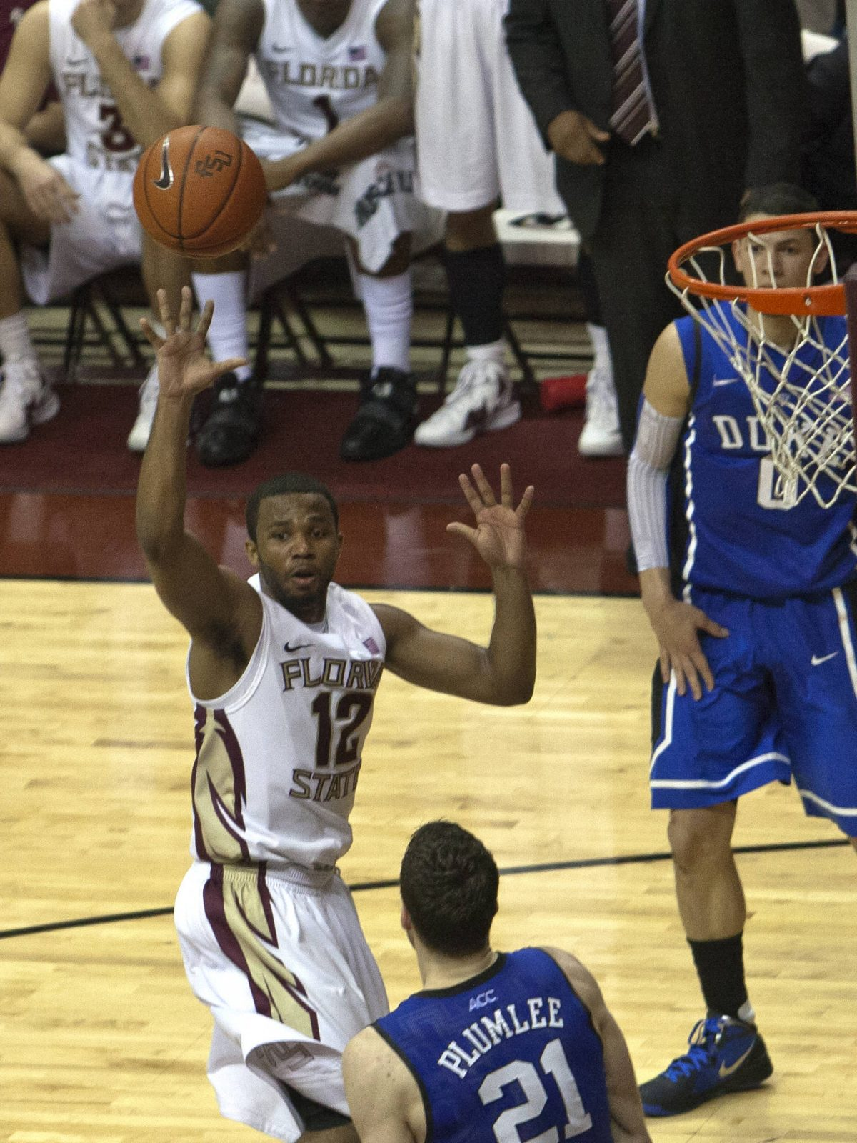 Jeff Peterson (12), FSU vs Duke,  02/23/2012