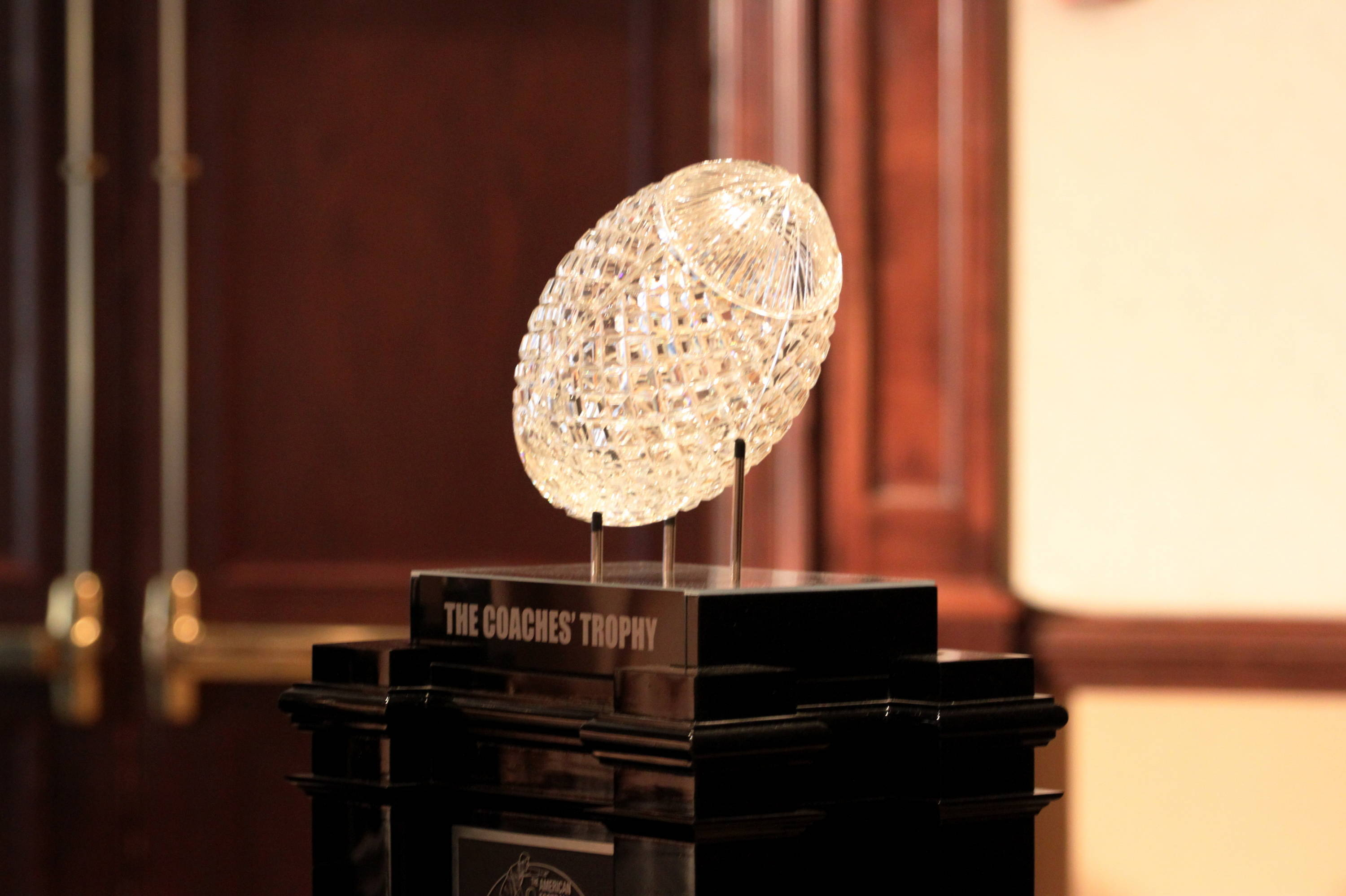 The BCS National Championship trophy.