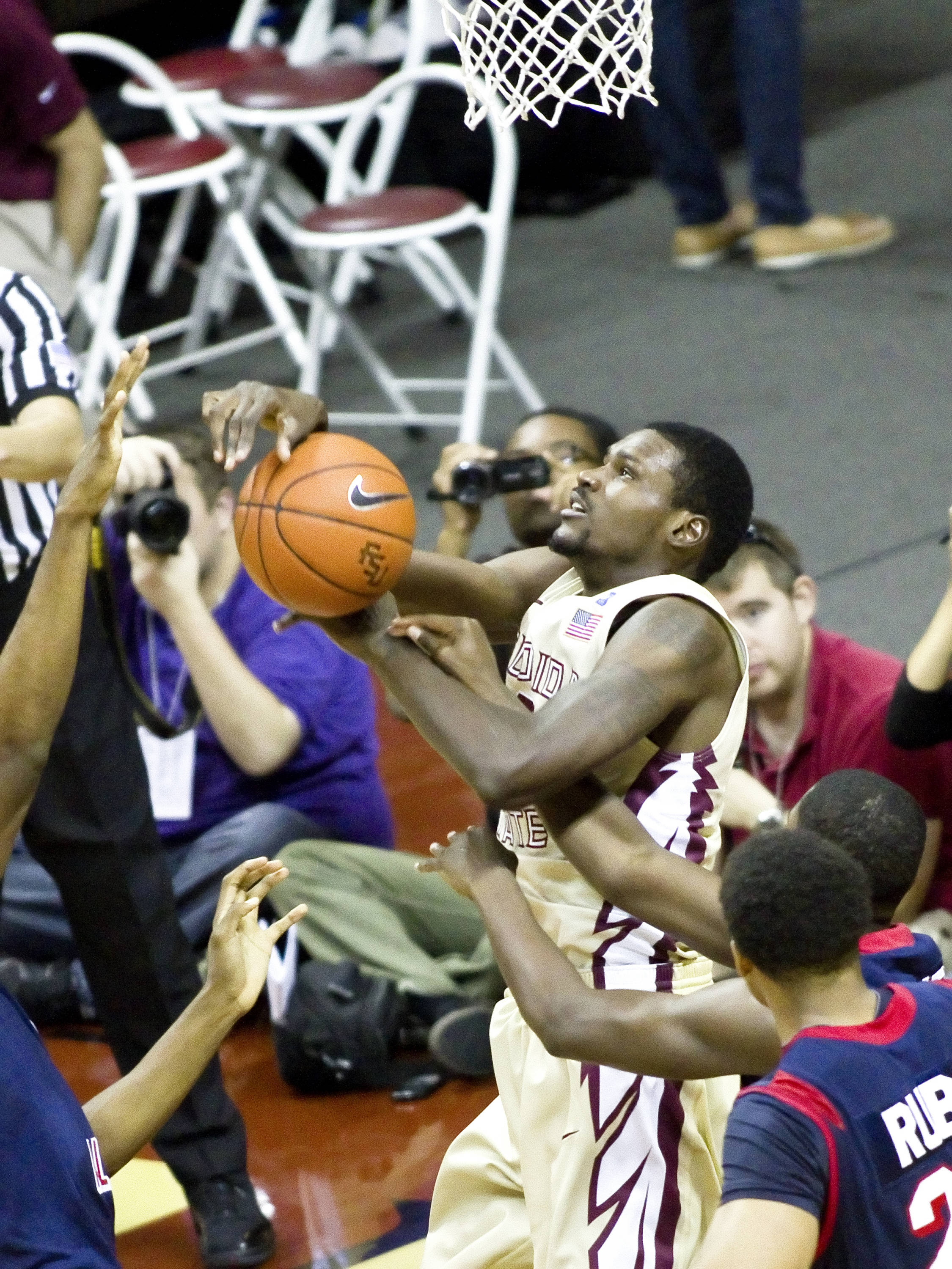Bernard James (5), FSU vs So. Alabama, 11/20/2011