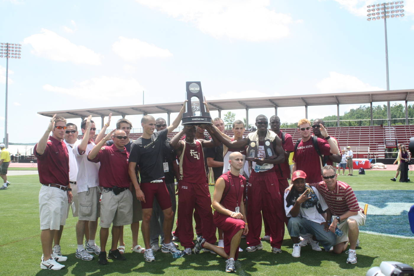 The Seminole men's team - 2009 second place finishers.
