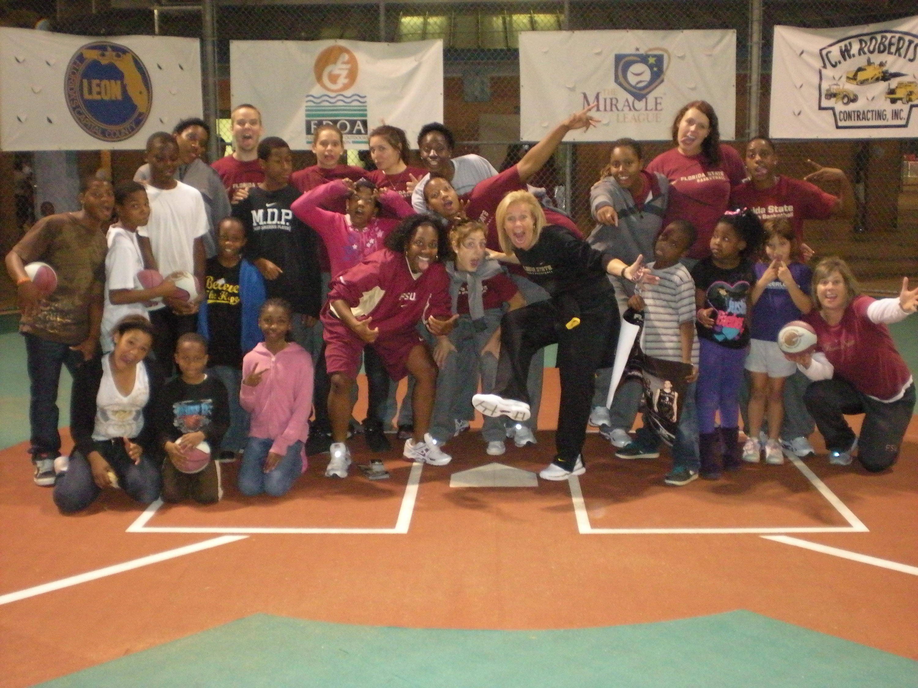 The Seminoles take volunteering in the community very seriously.