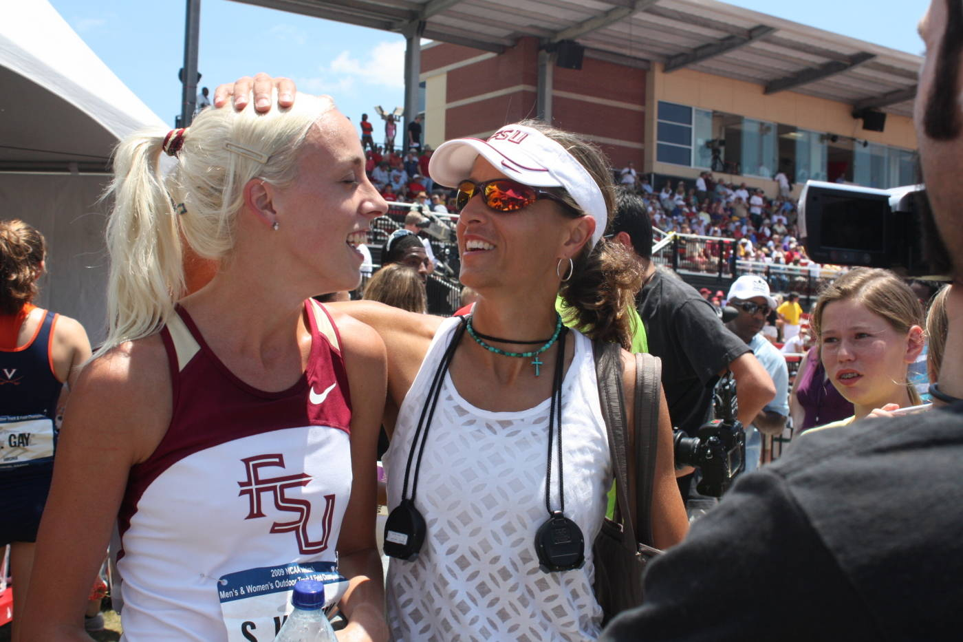 Susan Kuijken and Coach Harvey