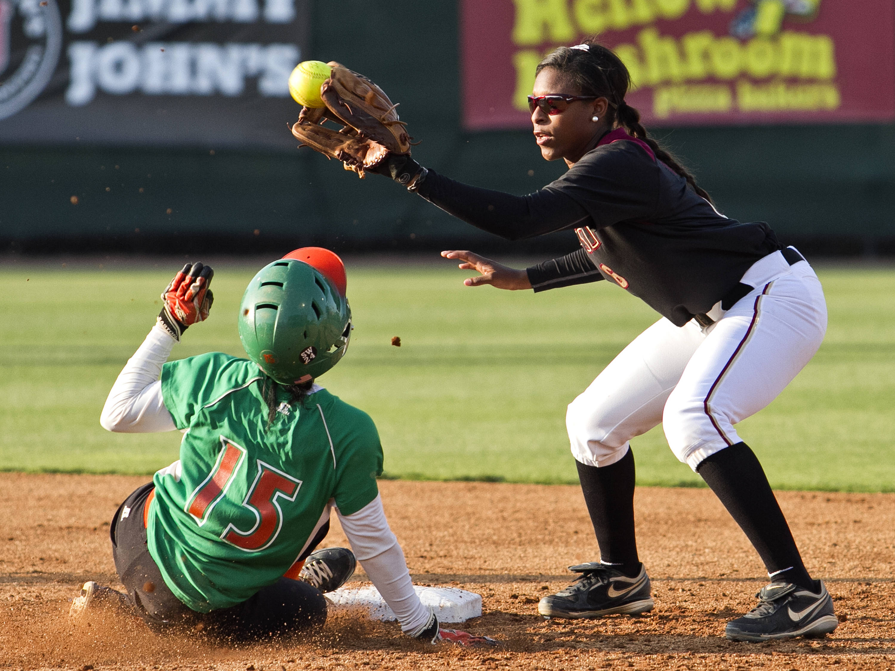 Tiffani Brown, FSU Softball vs FAMU  04/10/2012