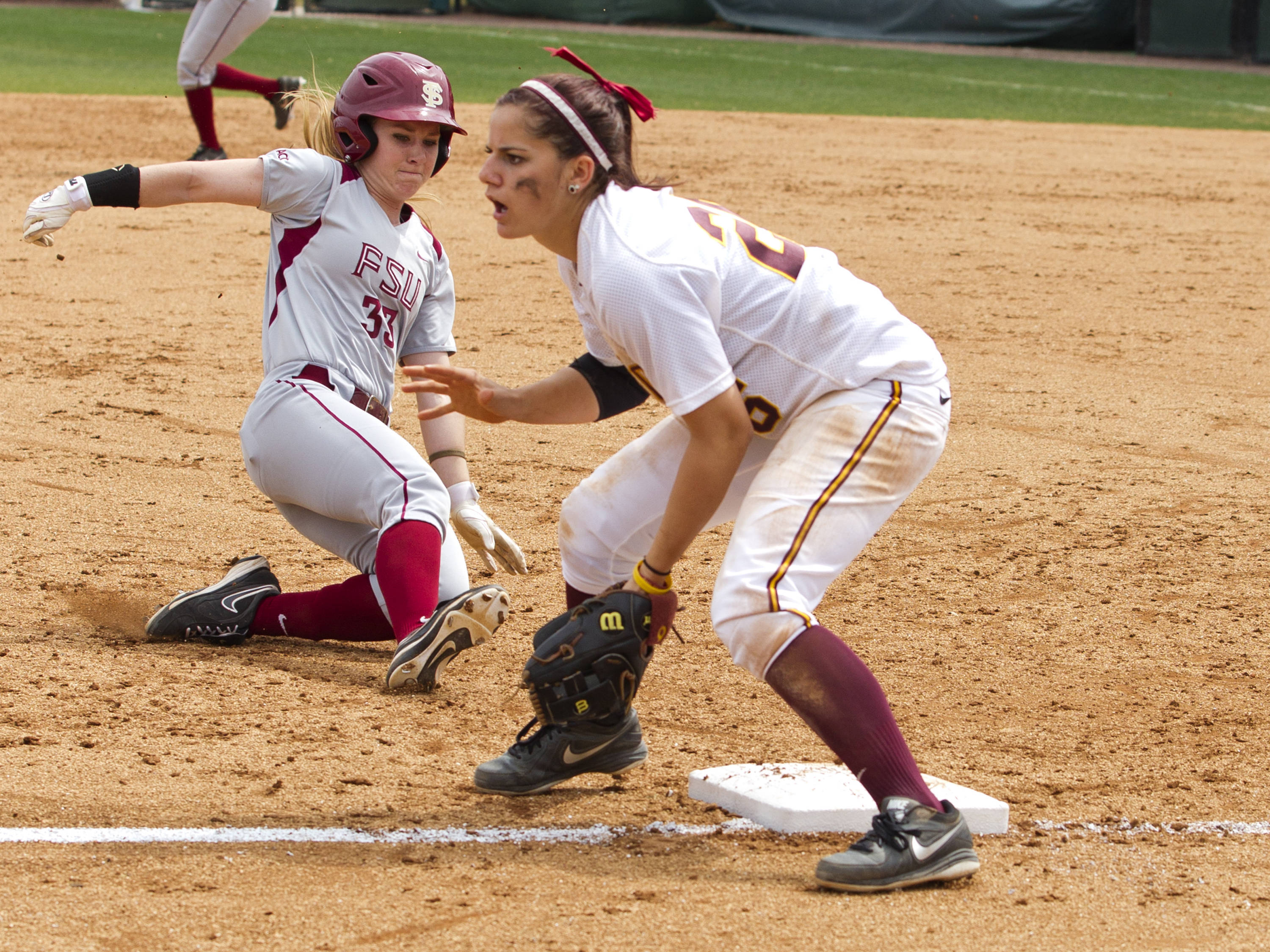 Kirstin Austin (3), FSU vs Minnesota, 03/17/13. (Photo by Steve Musco)