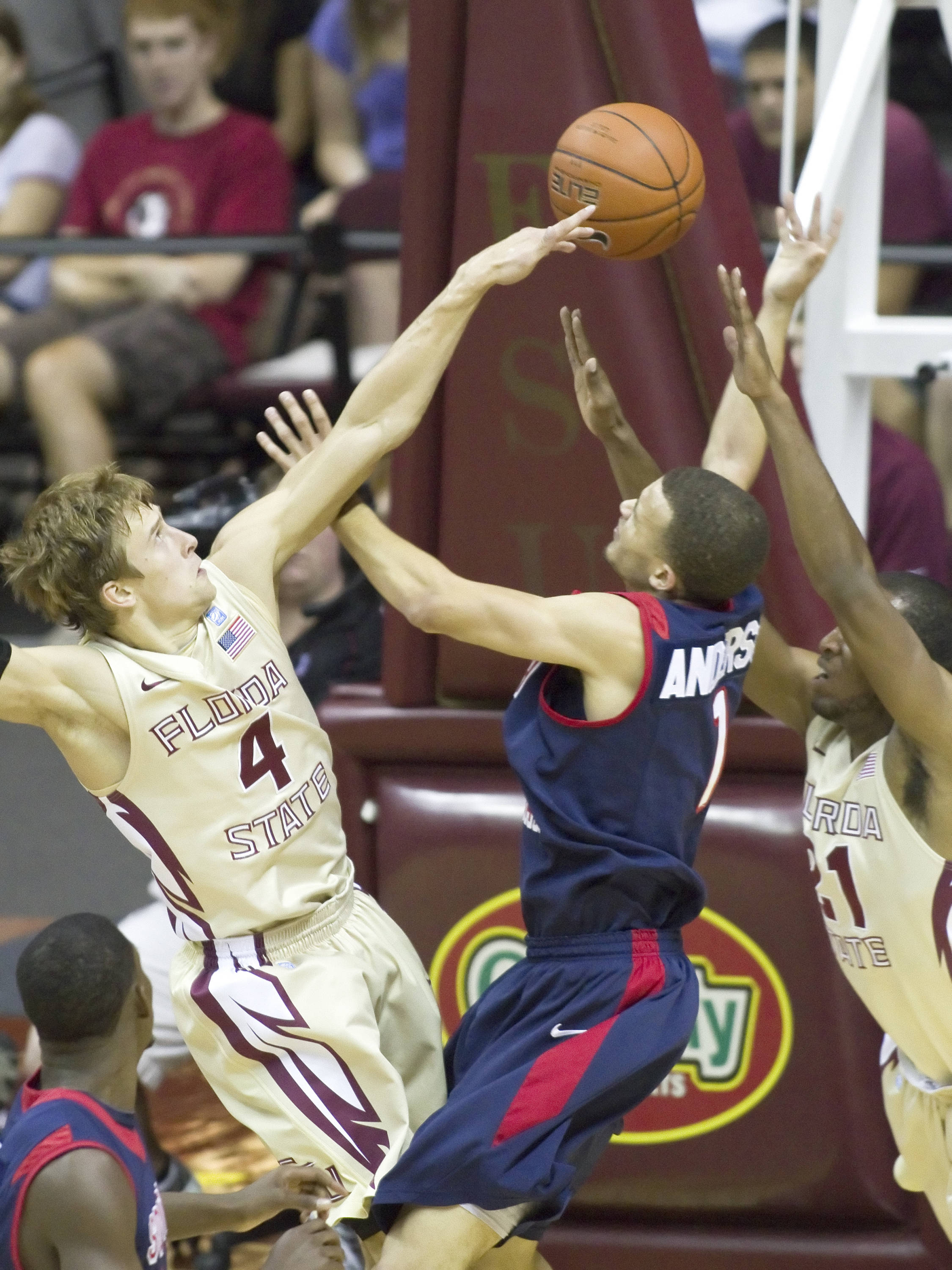 Deividas Dulkys (4), FSU vs So. Alabama, 11/20/2011
