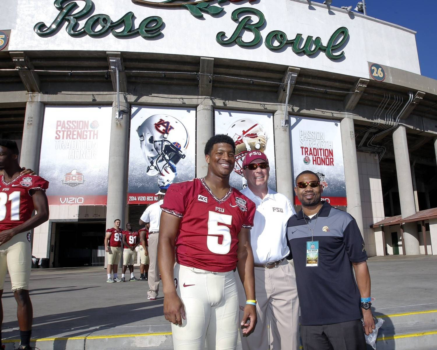 Jameis Winston, Jimbo Fisher, and Kerwin Lonzo
