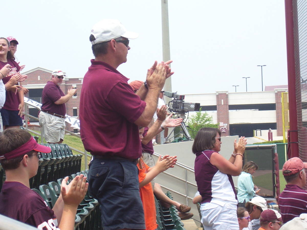 The Hokie fans were on their feet.