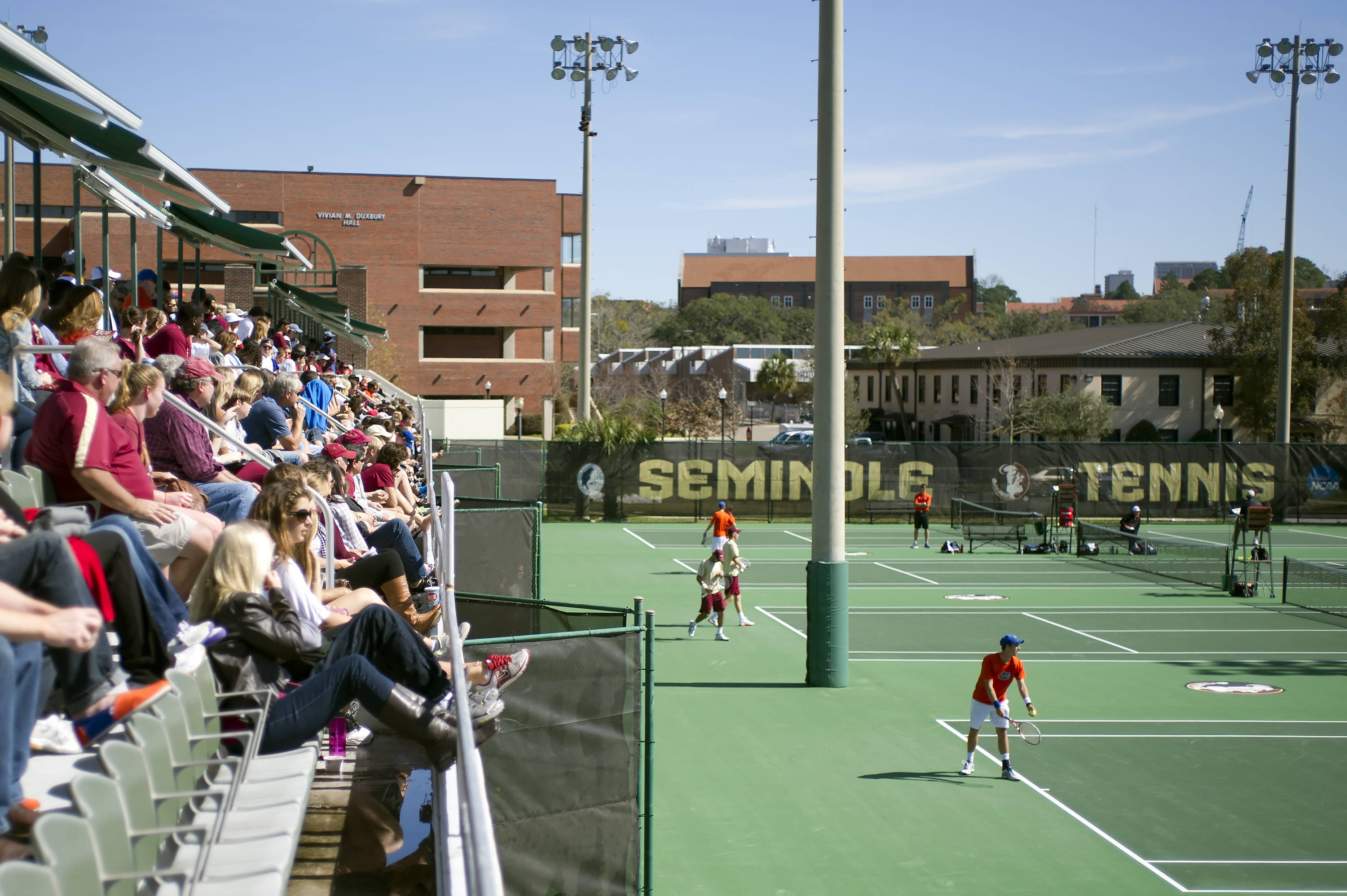Packed house at the tennis complex
