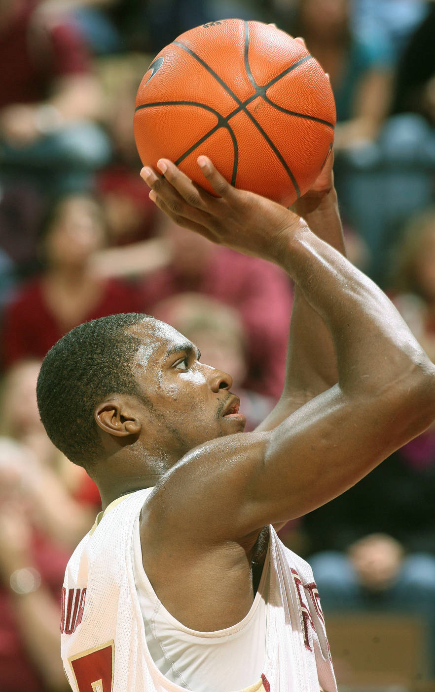 Florida State's Toney Douglas shoots a second-half free throw. (AP Photo/Phil Sears/Tallahassee Democrat)