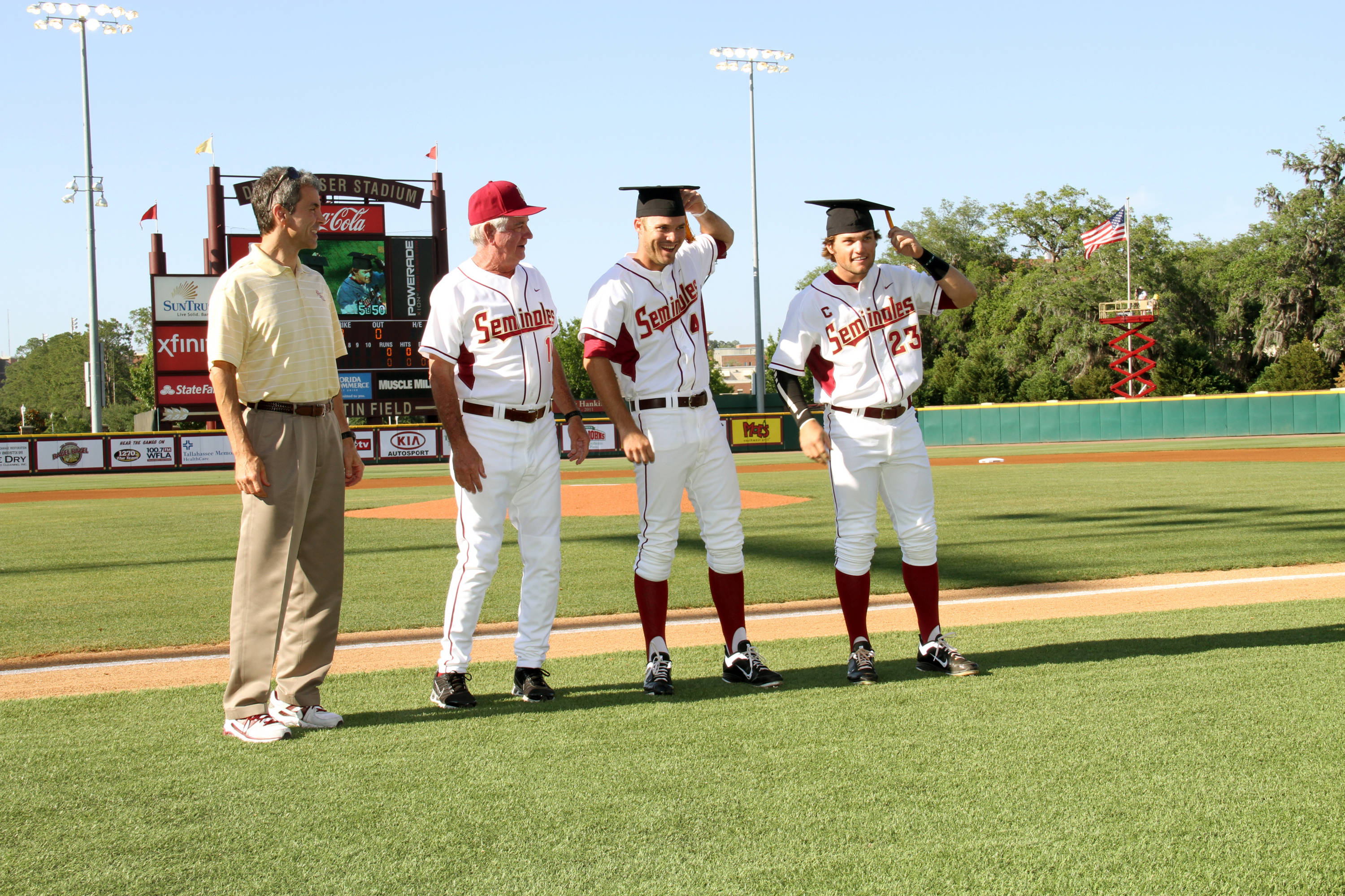 Spring 2012 Graduating Seniors from the FSU Baseball Team - Mack Waugh and James Ramsey
