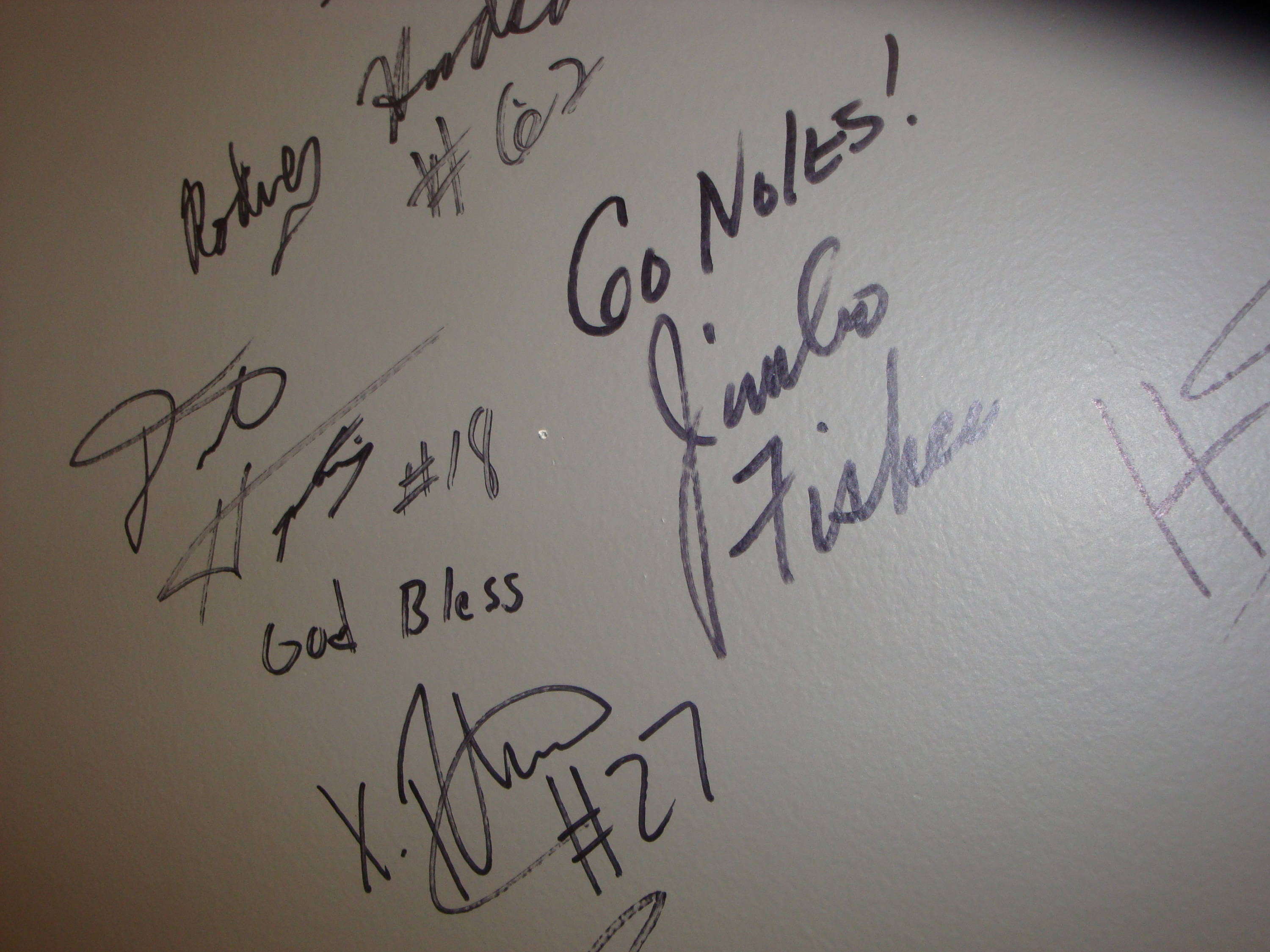 Yes, the Florida State football team has certainly been here before. Here are some signatures from Xavier Rhodes, Rodney Hudson, Dustin Hopkins and head coach Jimbo Fisher