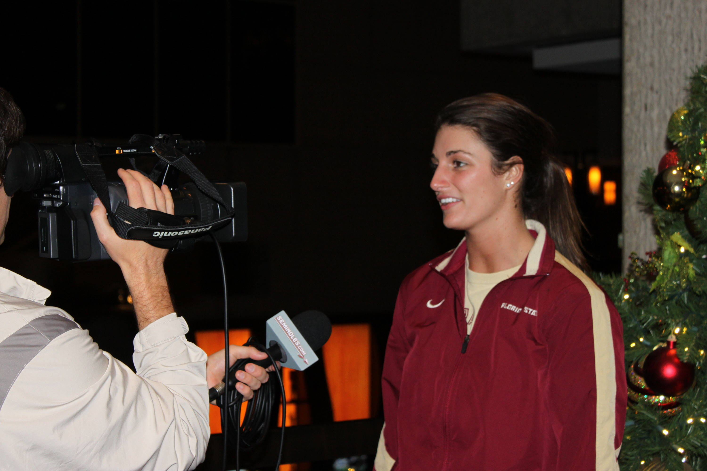 Interview time for Rachael Morgan (1). She's always on camera!
