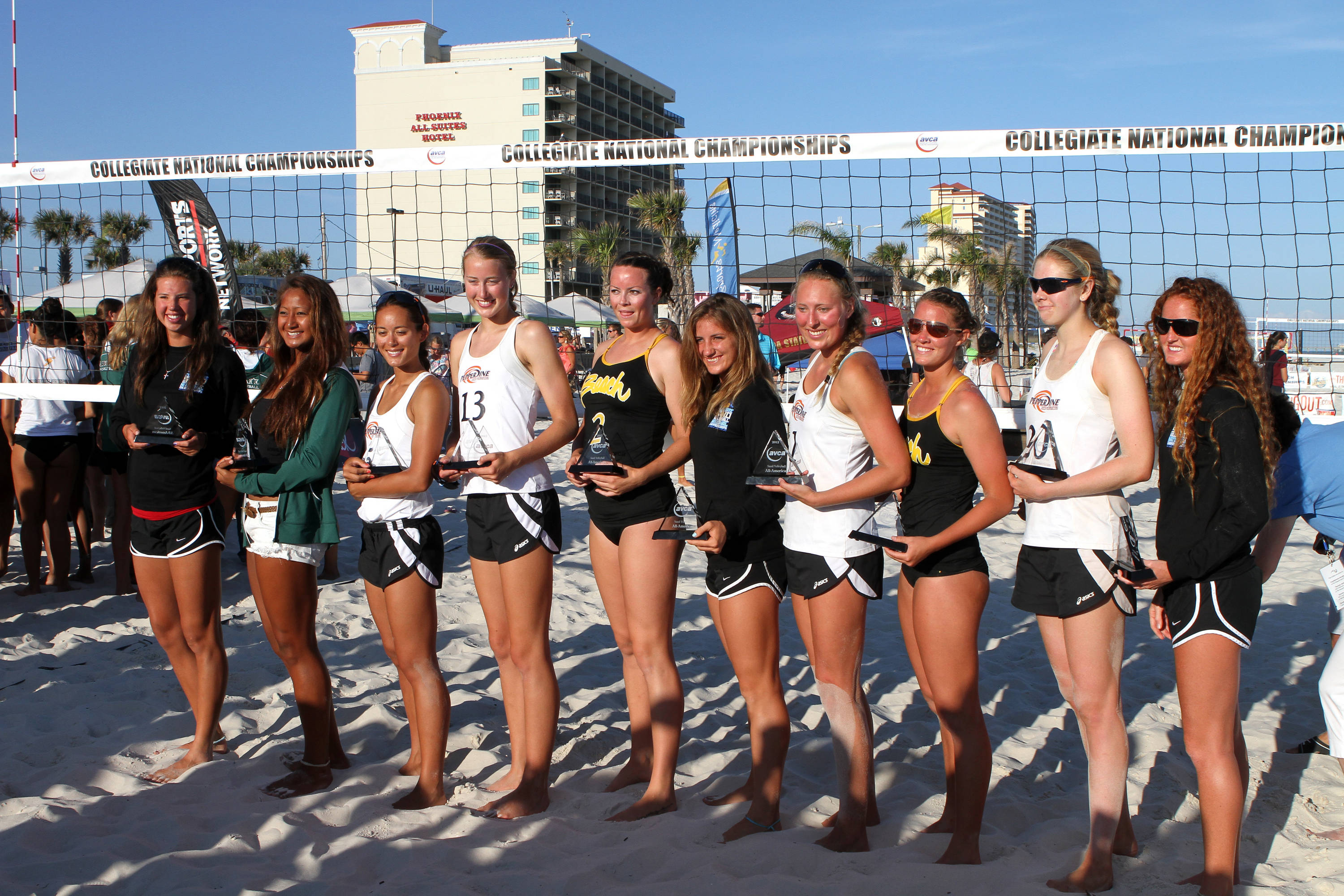 First group of Women's All American Volleyball Players, SAND VOLLEYBALL COLLEGIATE CHAMPIONSHIPS,  04/28/2012