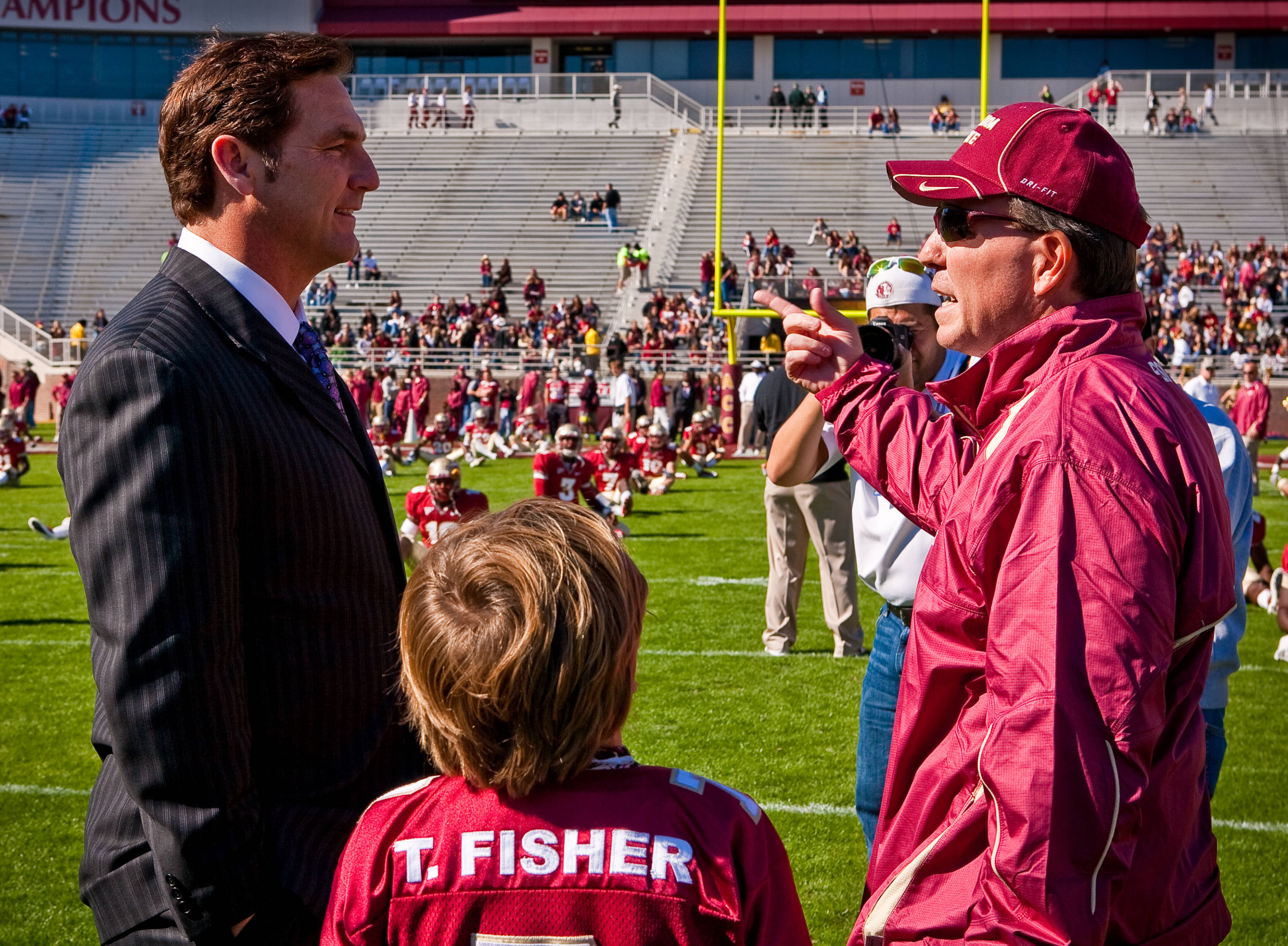 Jimbo Fisher with Craig James