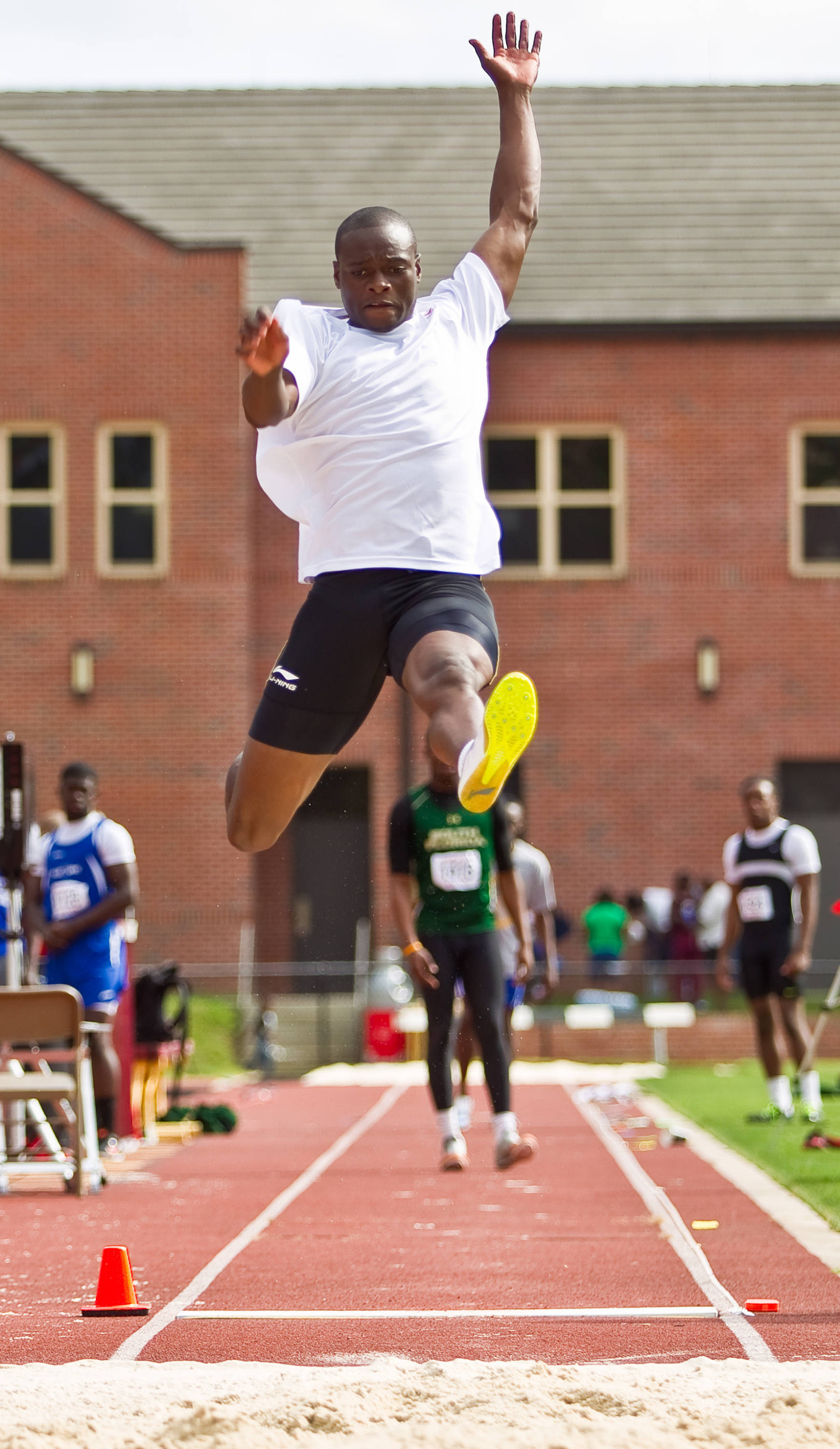 Former Seminole Ngoni Makusha needed only one jump to capture the long jump competition.