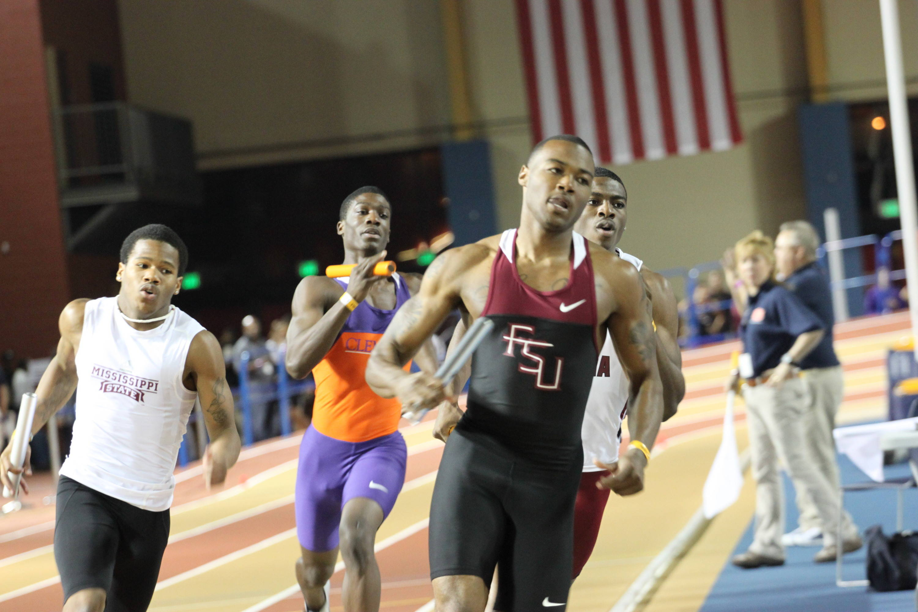 Transfer student Horatio Williams, a six-time All-American at LSU, made his FSU debut with a leadoff leg in the 4x400 relay Saturday.