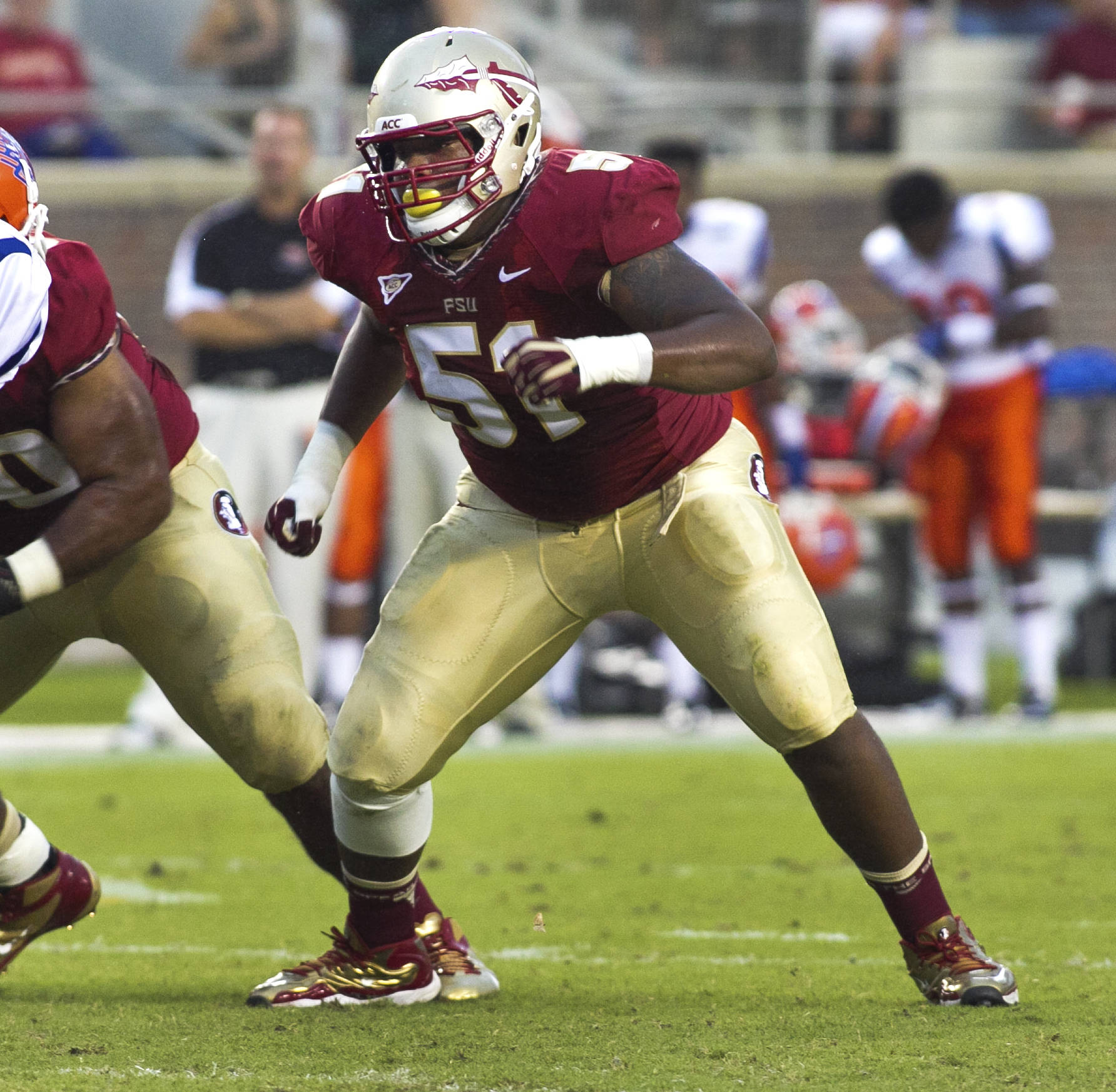 Bobby Hart (51),  FSU vs Savannah State, 9/8/12 (Photo by Steve Musco)