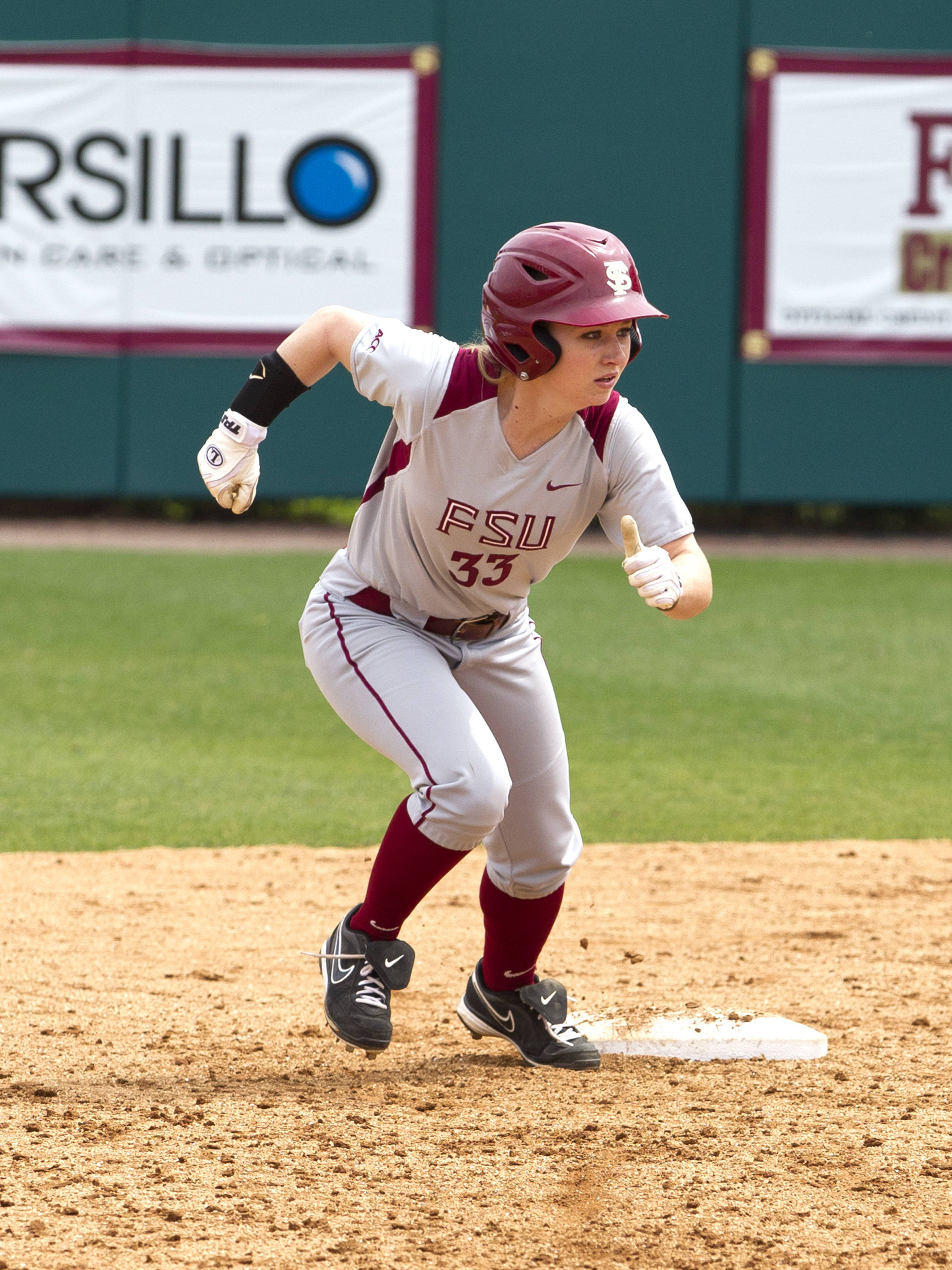 Kirstin Austin (33), FSU vs Minnesota, 03/17/13. (Photo by Steve Musco)