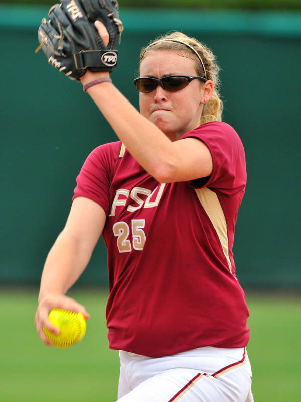 The 2009 Softball Player of the Year Sarah Hamilton.