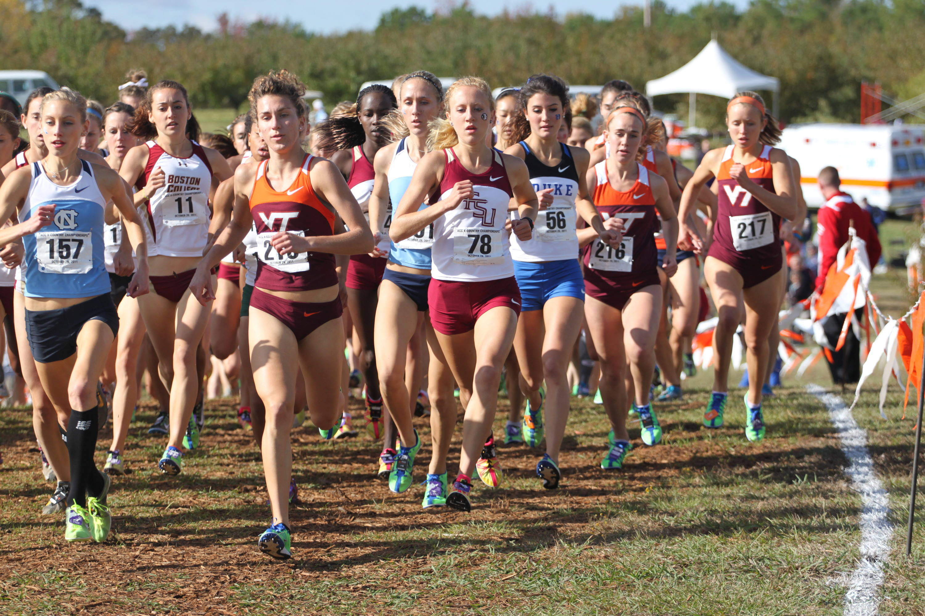 Amanda Winslow is among the front-runners early on at the 2011 ACC Championships.