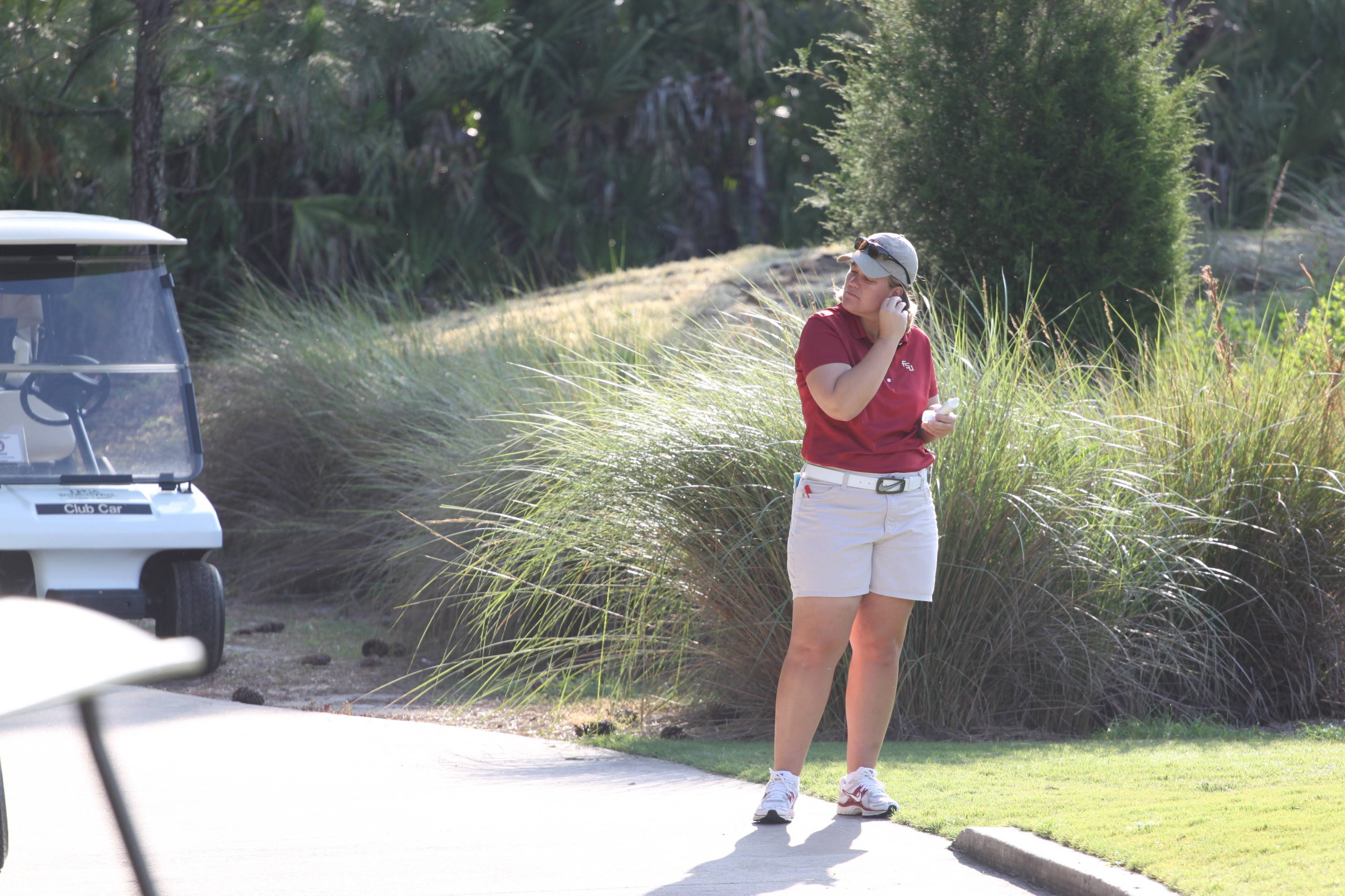 2011 NCAA Golf -- Head Coach Amy Bond in her first NCAA regional championship