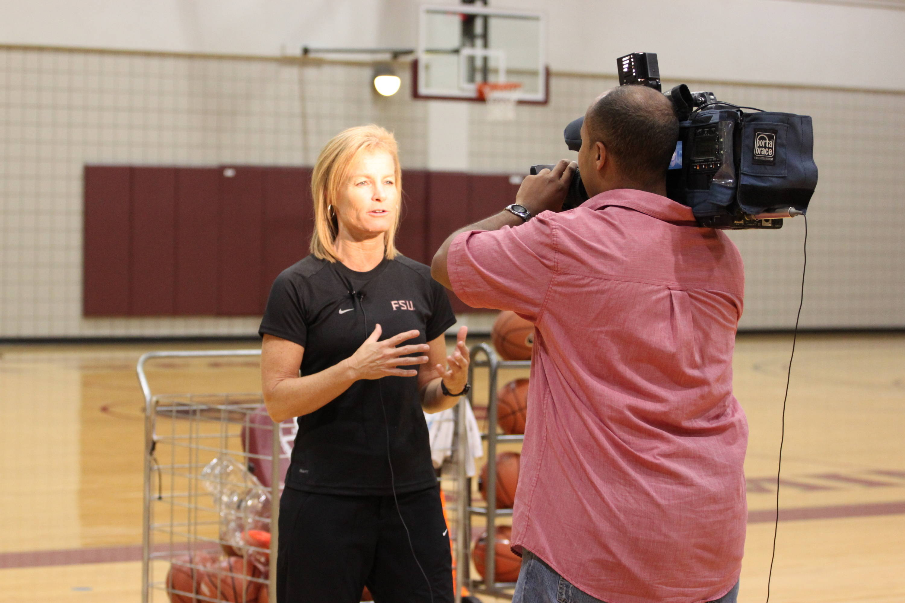 Head coach Sue Semrau met with the media following practice to discuss the excitement surrounding the new season.