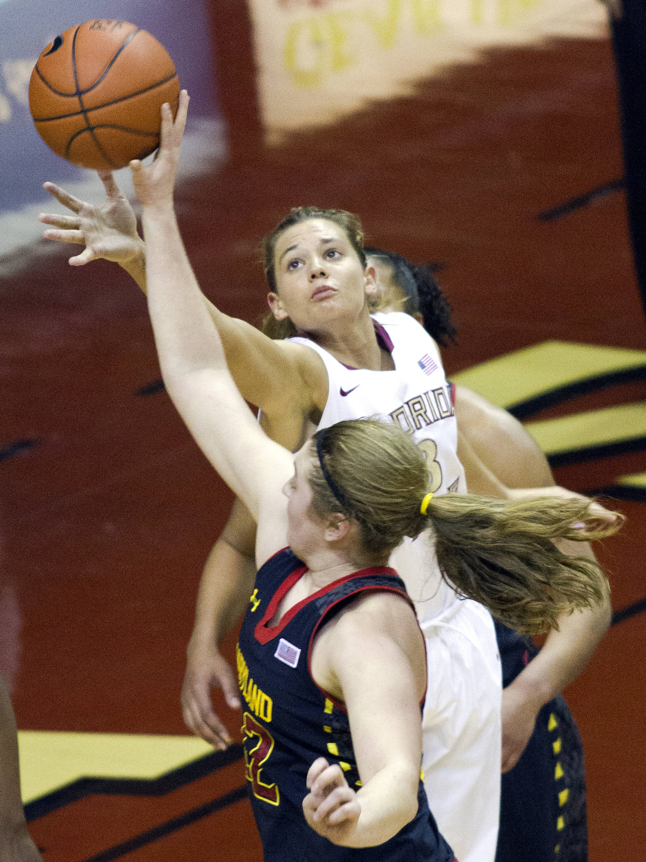 Alexa Deluzio (3), FSU vs Maryland, 02/28/13. (Photo by Steve Musco)
