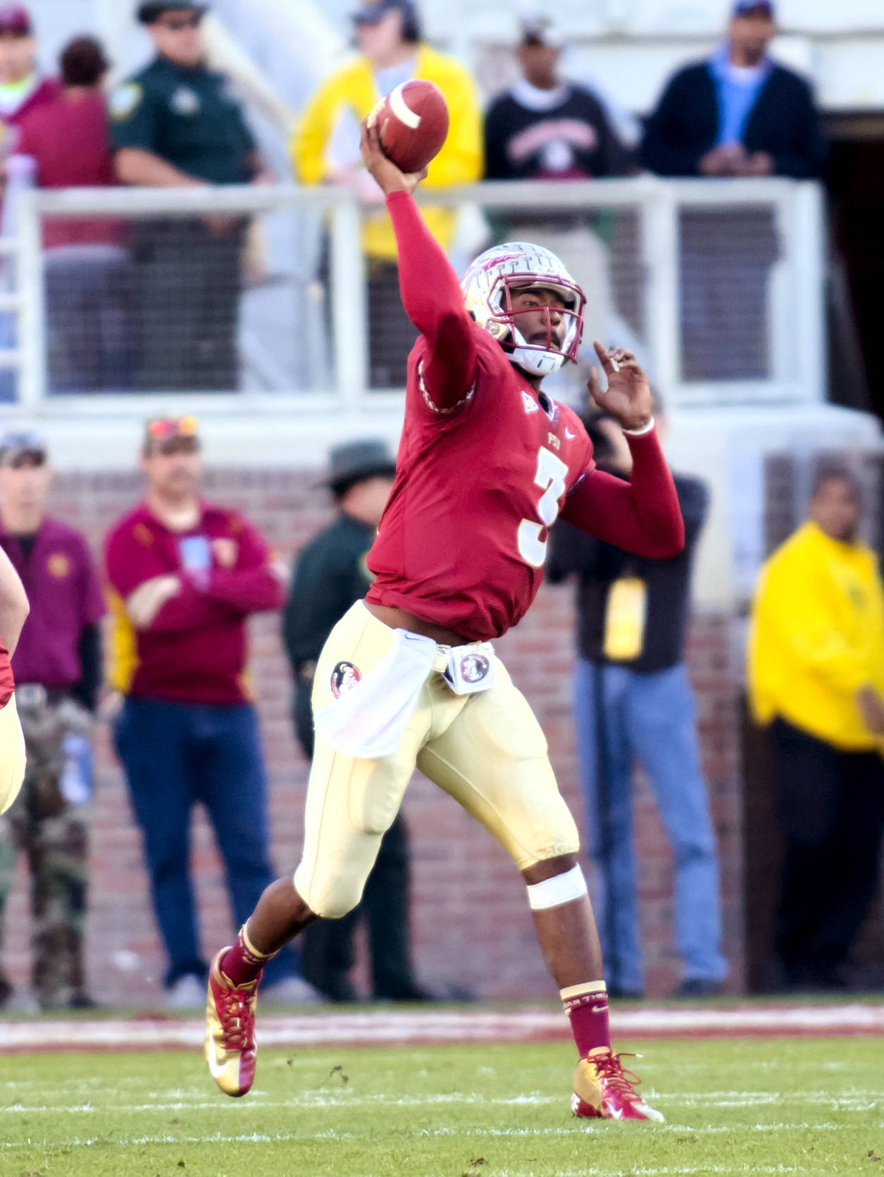 EJ Manuel (3), FSU vs Florida, 11/24/12. (Photo by Steve Musco)