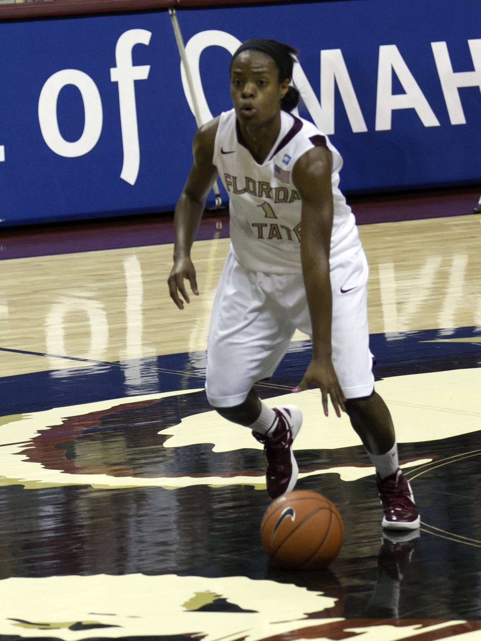 Morgan Toles (1), FSU vs NC,  02/15/2012