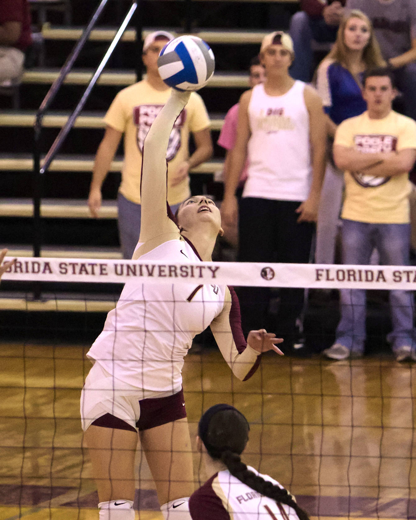 Fatma Yildirim (7), FSU vs Hofstra, 11/30/12. (Photo by Steve Musco)