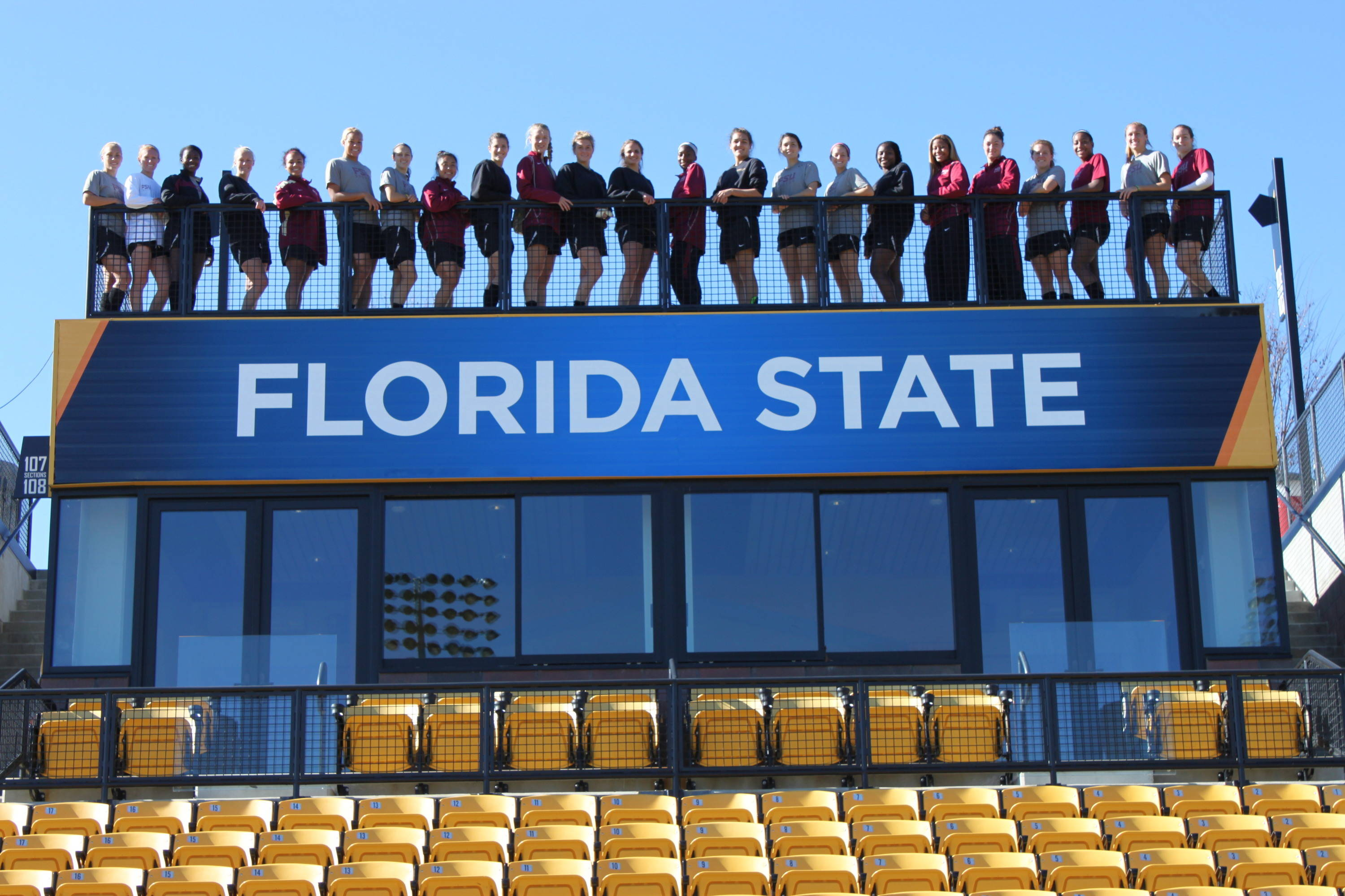 It wouldn't be official unless there was a picture with the Florida State banner.