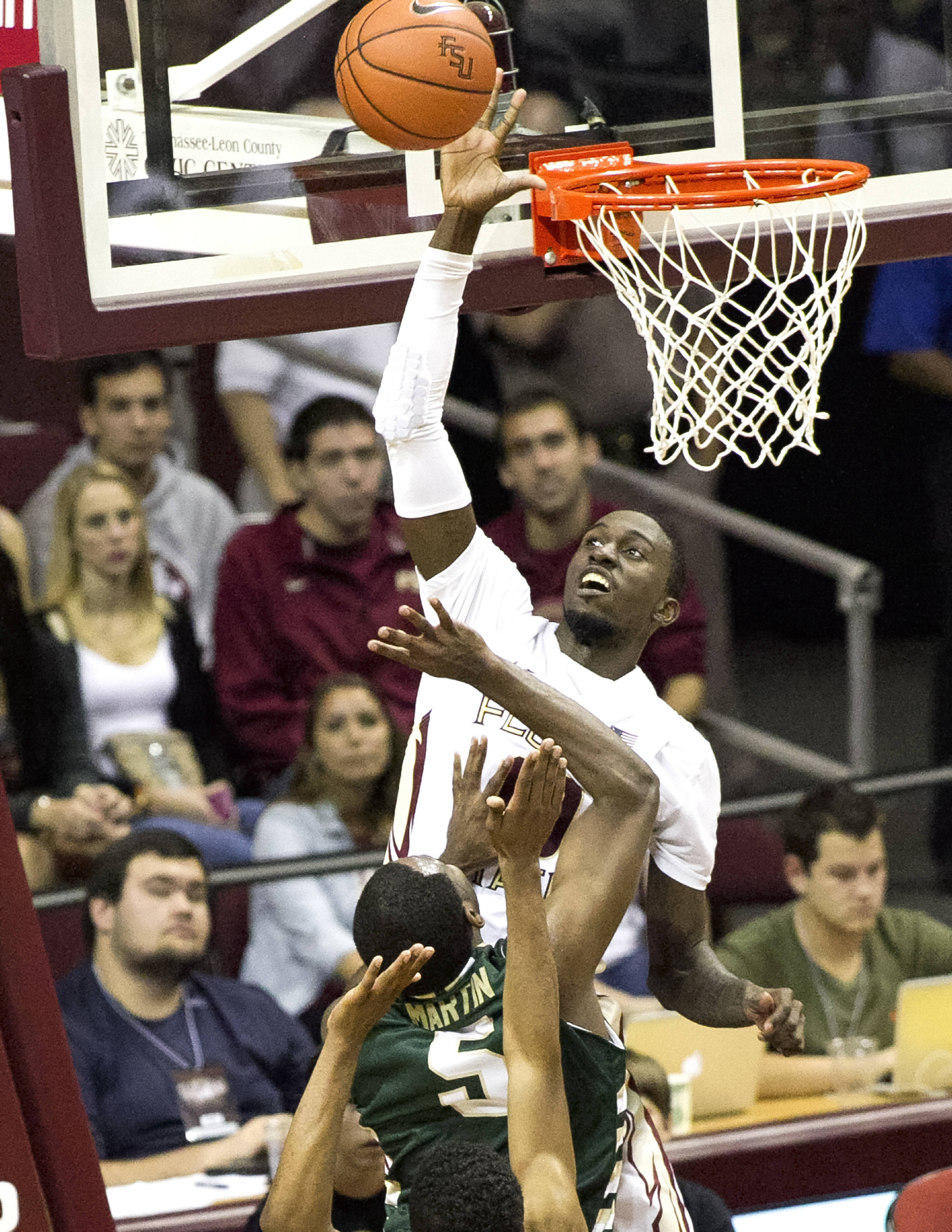 Okaro White, FSU vs Jacksonville,  11-8-13, (Photo by Steve Musco)