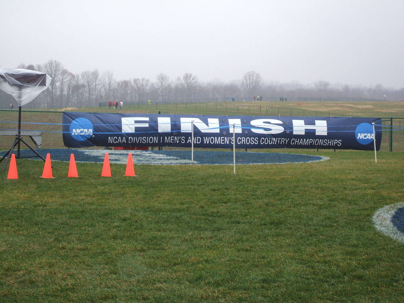 The 2008 NCAA Cross Country Nationals Finish Line.