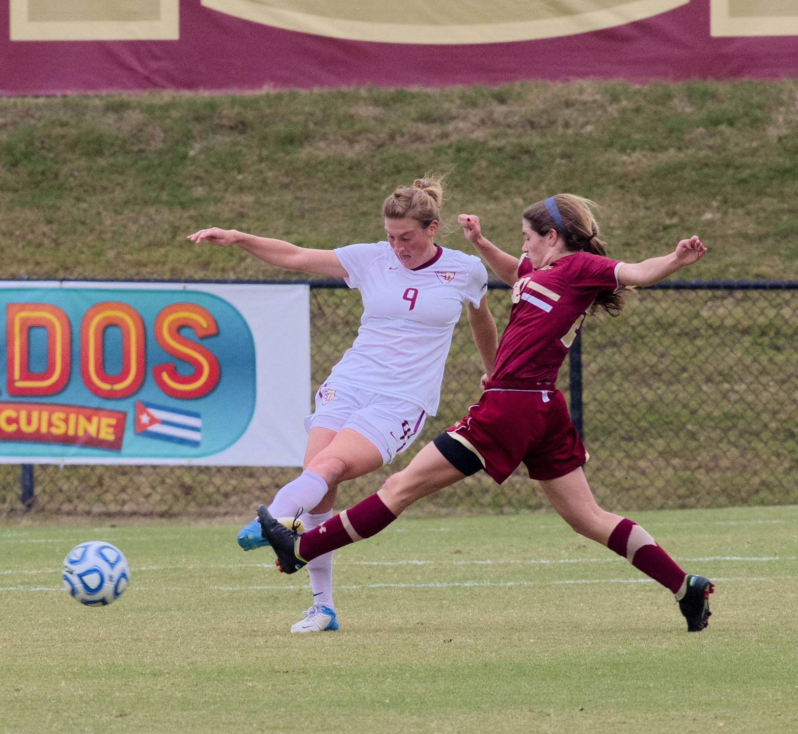 Kassey Kallman (9), FSU vs BC, ACC Tournament, 10/28/12. (Photo by Steve Musco)