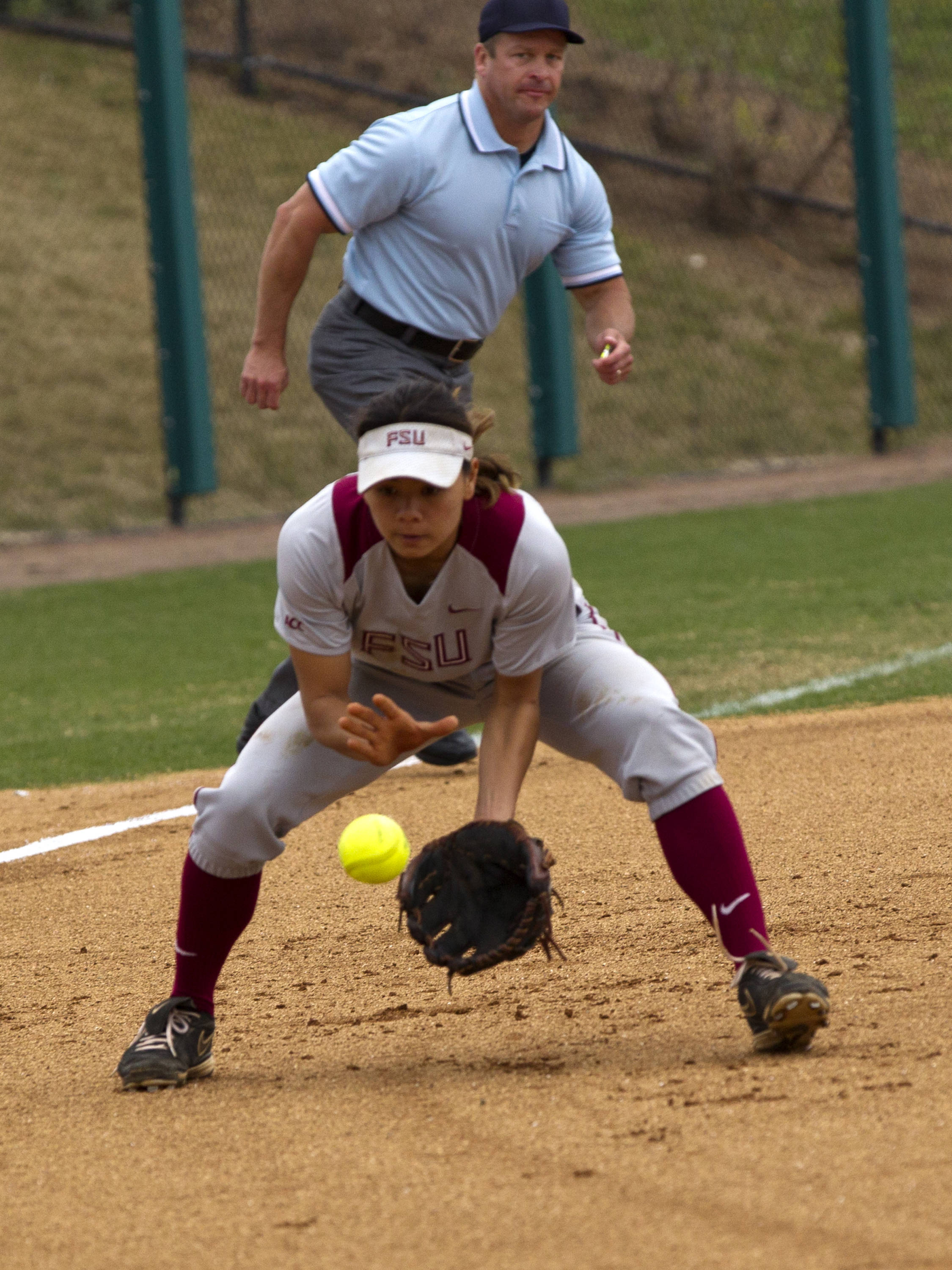 Courtney Senas (8), FSU vs Minnesota, 03/17/13. (Photo by Steve Musco)