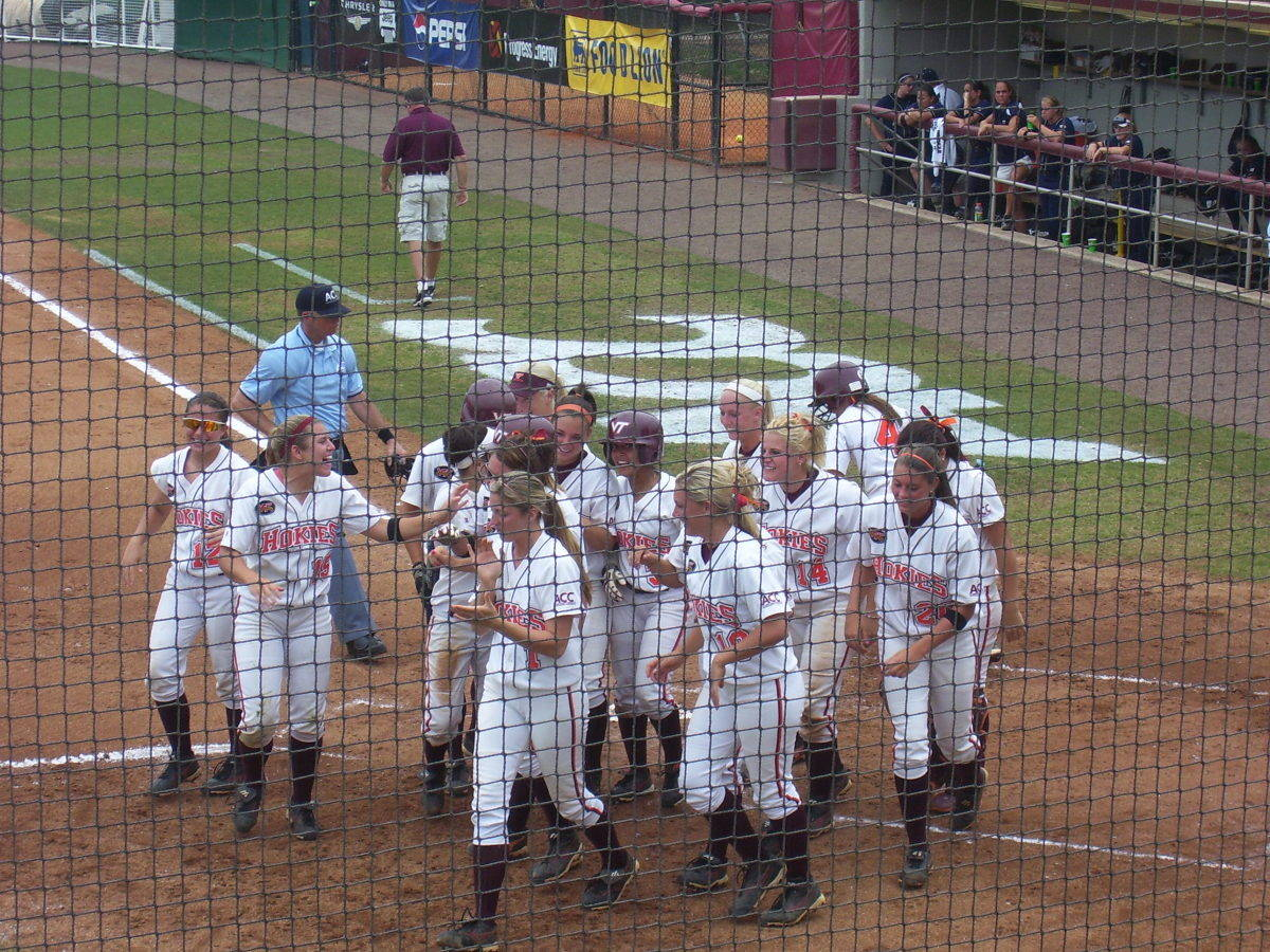 The Hokies were excited after they went up 2-0.