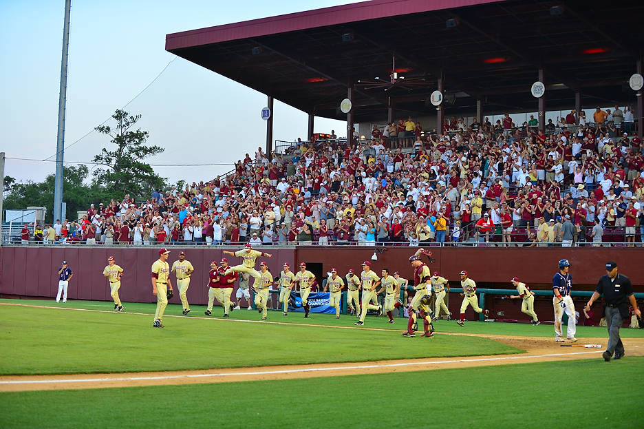 The Seminoles celebrate after defeating Samford on Sunday.