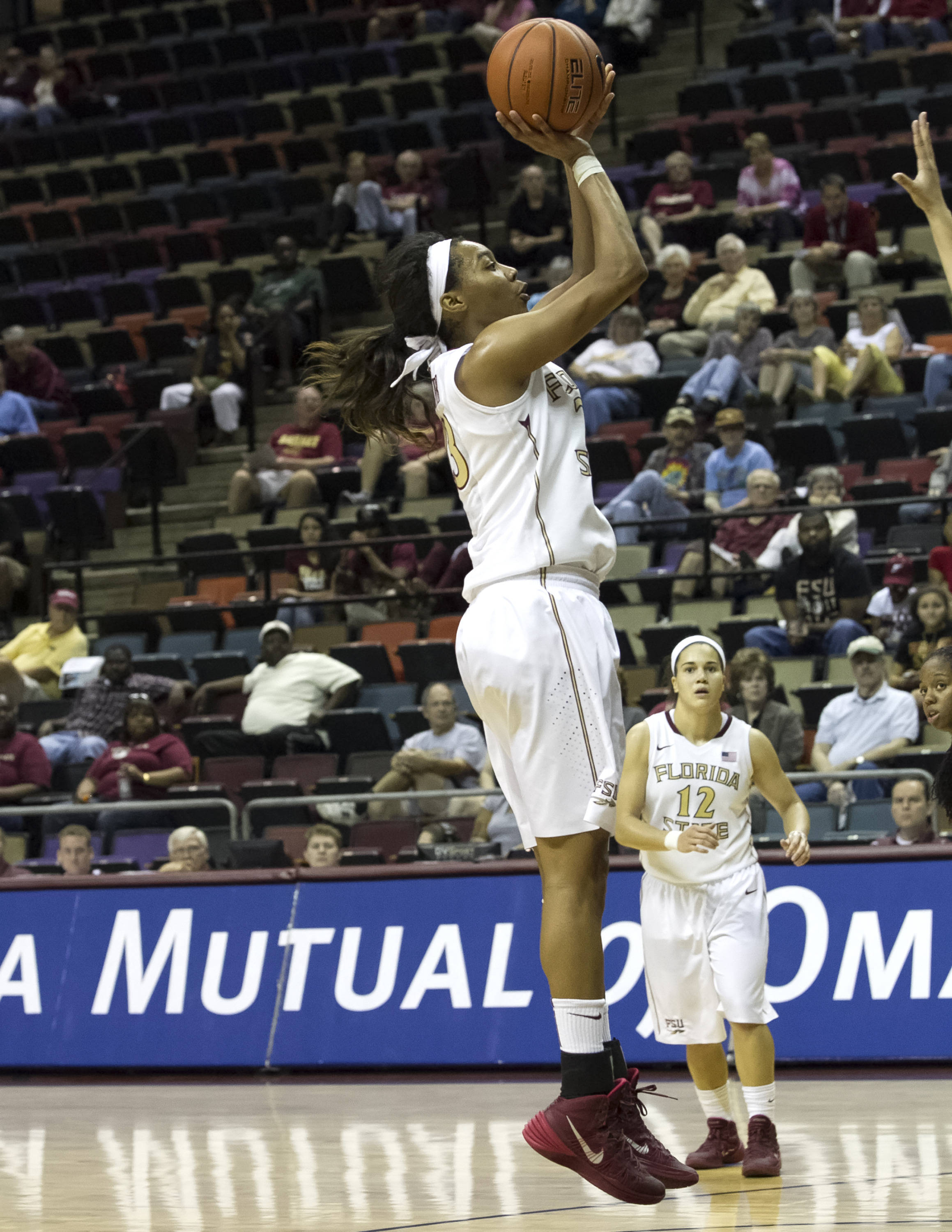 Ivey Slaughter (23), FSU vs Jacksonville, 12-08-13,  (Photo by Steve Musco)