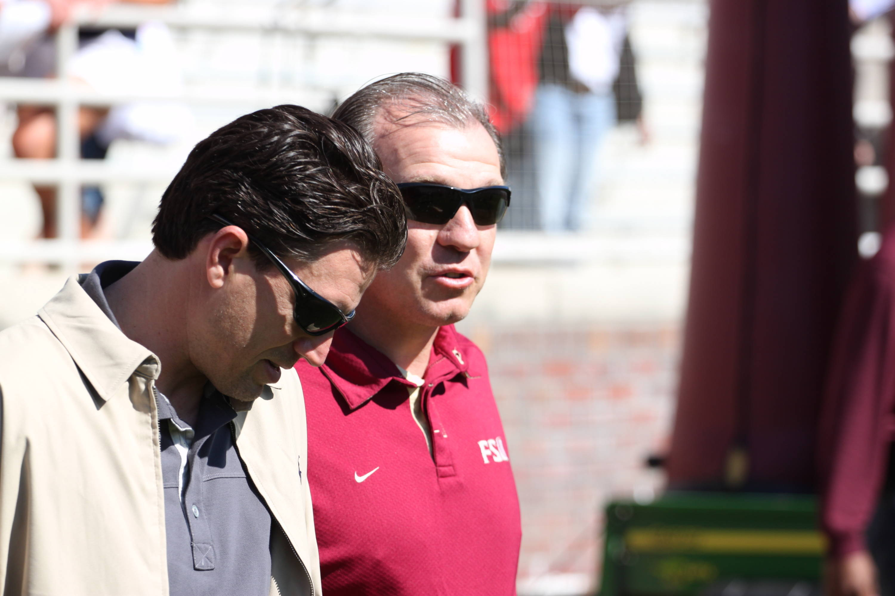 Head coach Jimbo Fisher and offensive coordinator James Coley.