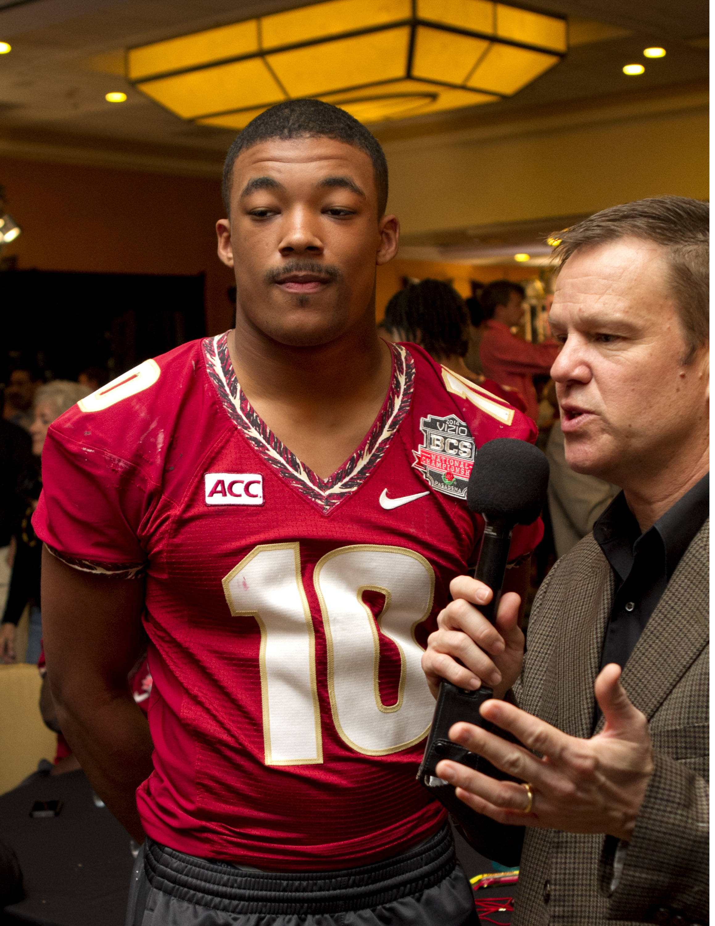 Sean Maguire (10), FSU at BCS Championship Media Day,  1-04-14,  (Photo by Steve Musco)